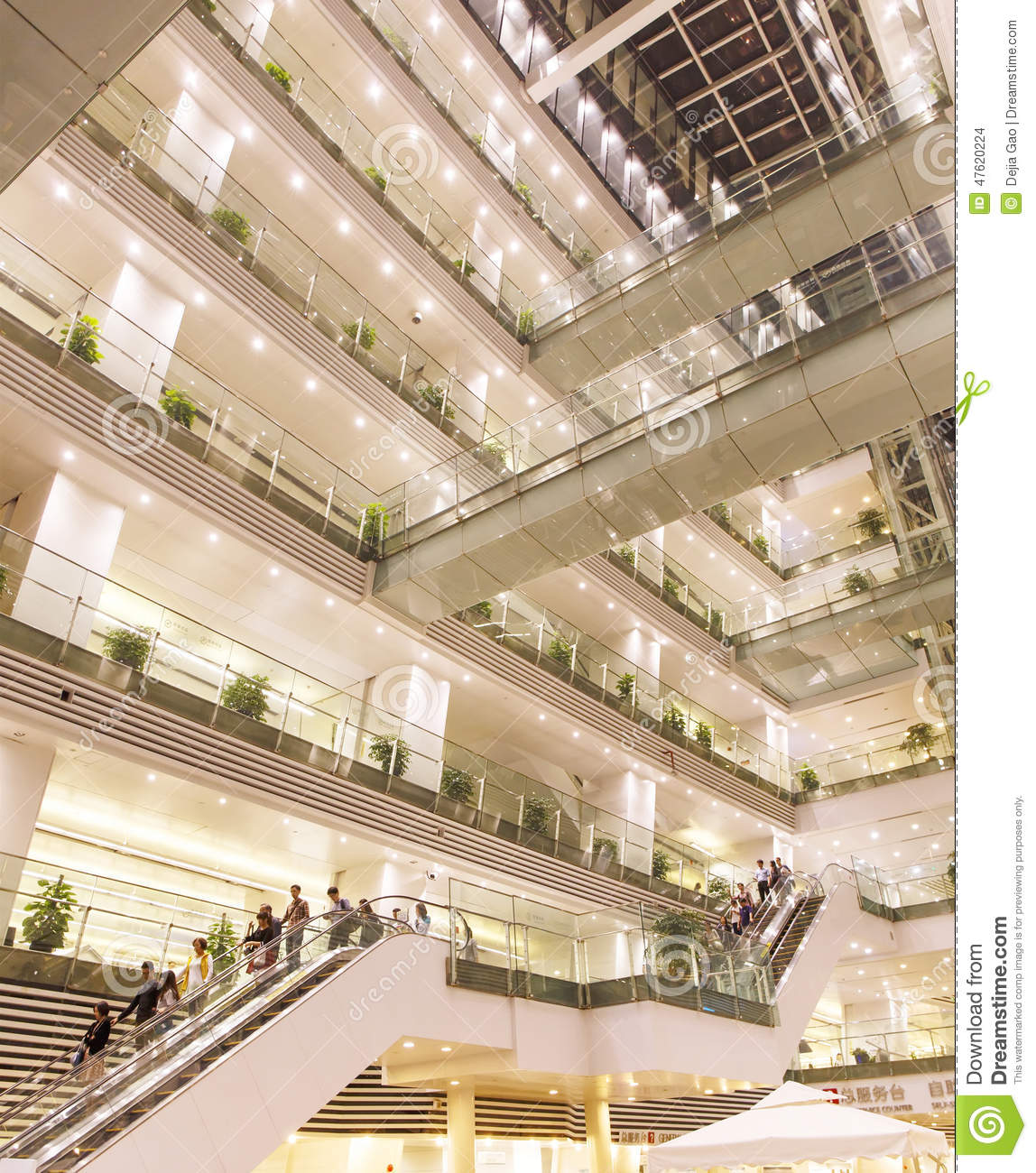 Stock images interior of modern office building at night for Modern office building interior