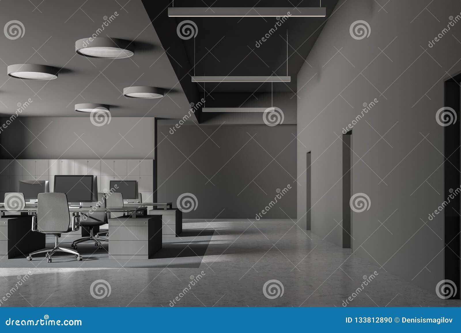 Gray Office Interior Doors Stock Illustration Illustration Of Comfortable Chair 133812890