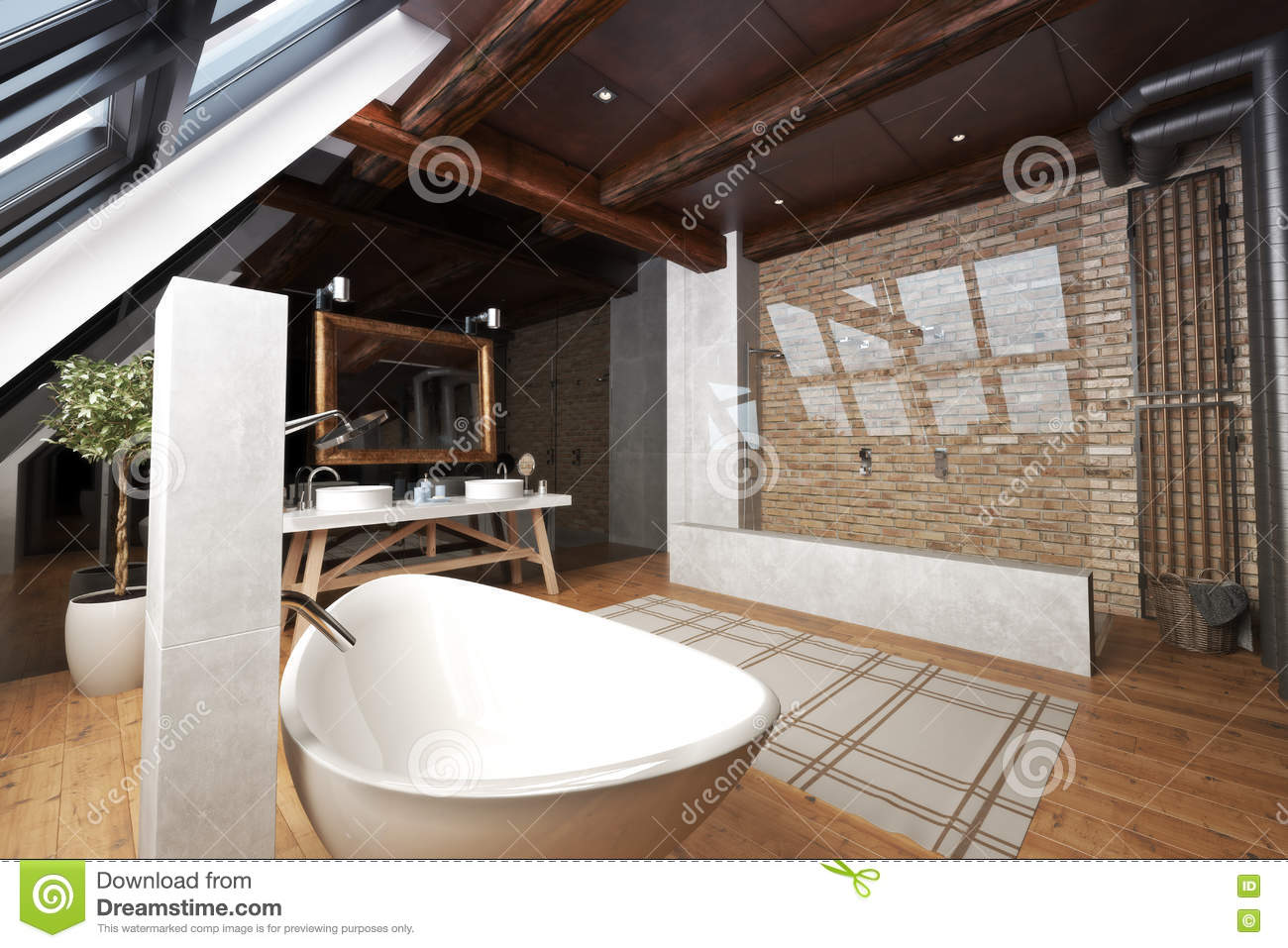 Interior Of A Modern Open Bathroom Stock Photo - Image of interior on modern wood floor stains, provenza wood floor, modern grey wood floors,