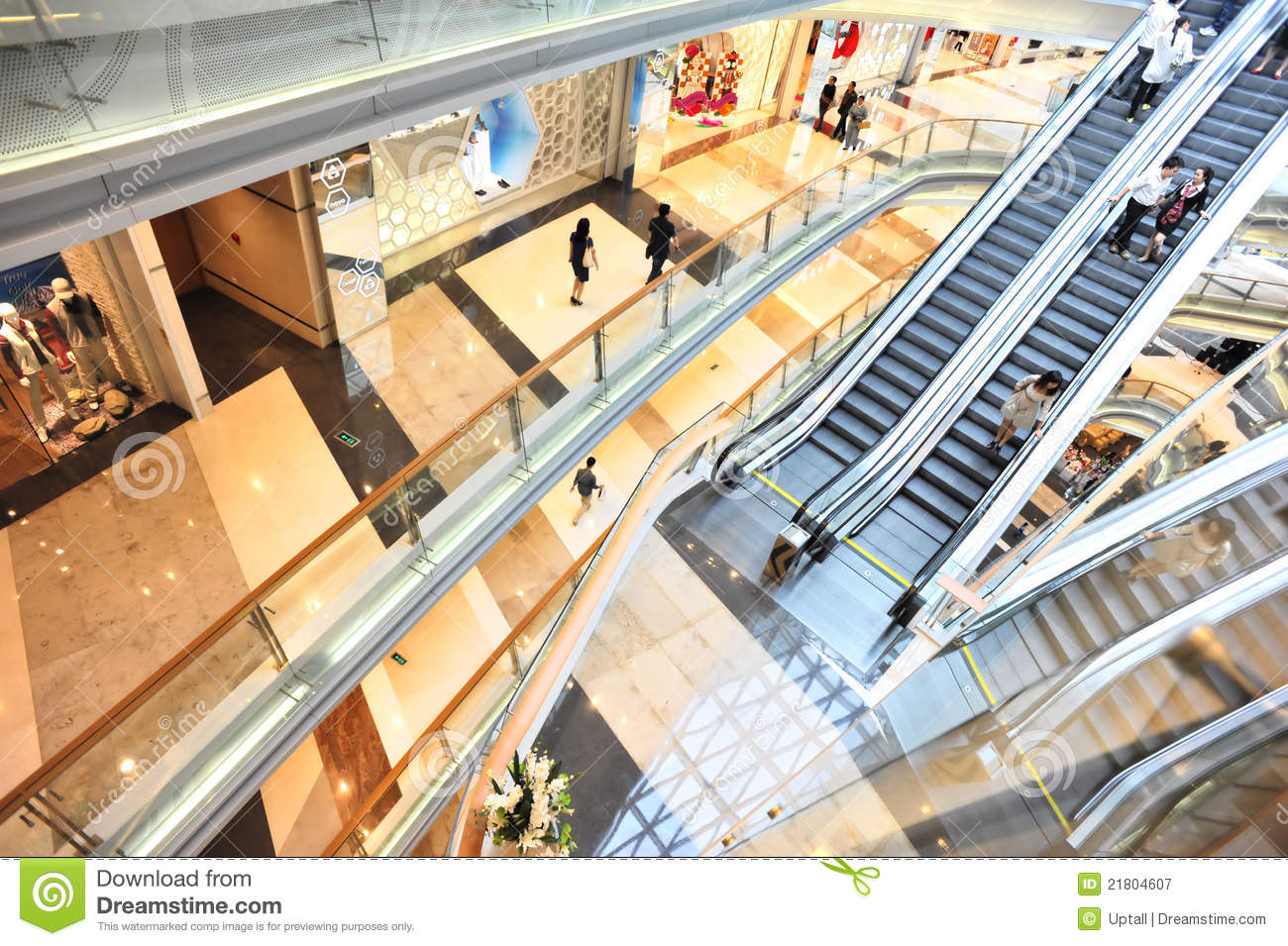 Elevators Lifts In Modern Business Center Stock Image ...