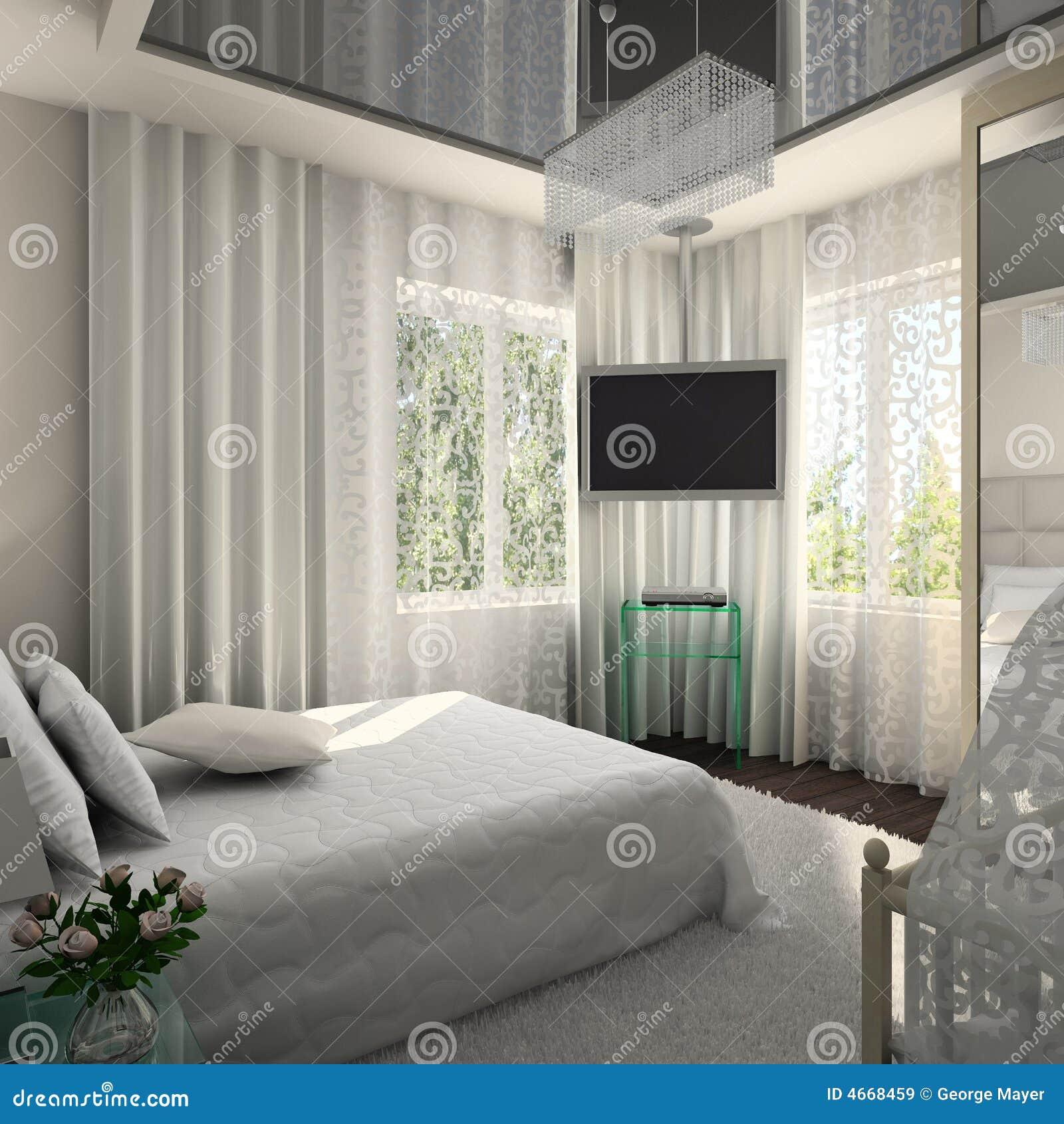 Interior moderno. 3D rinden
