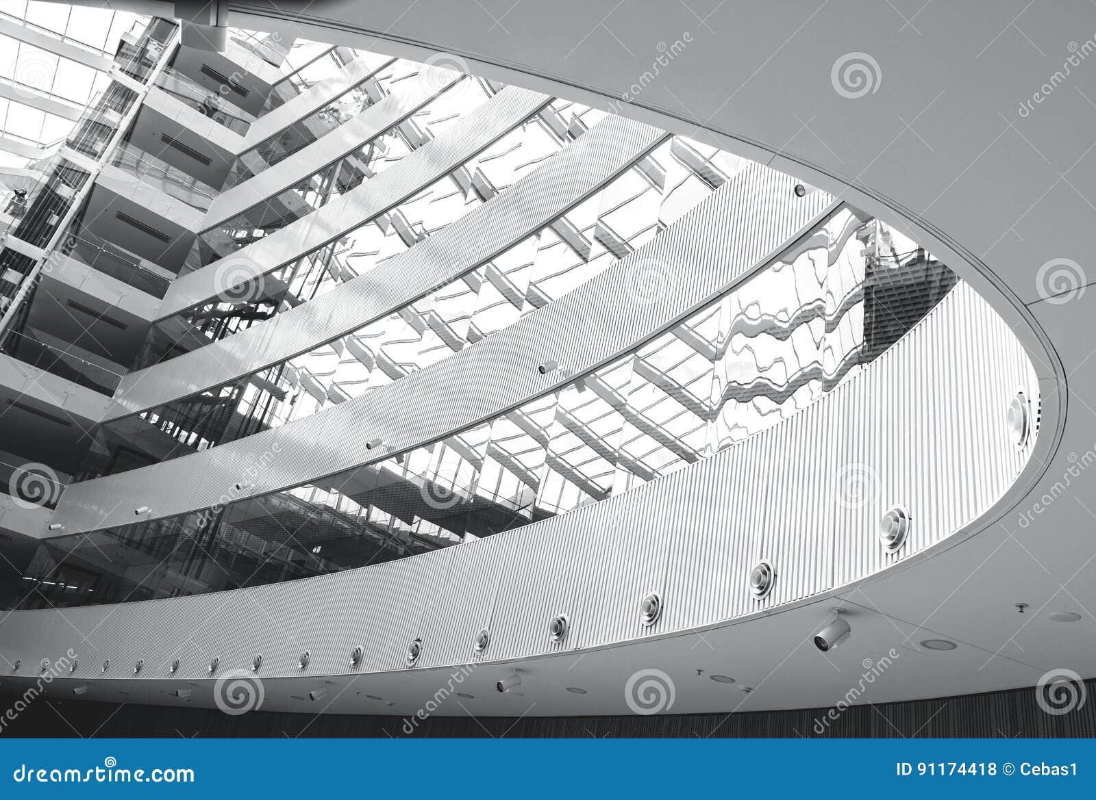 Interior moderno abstracto de la arquitectura