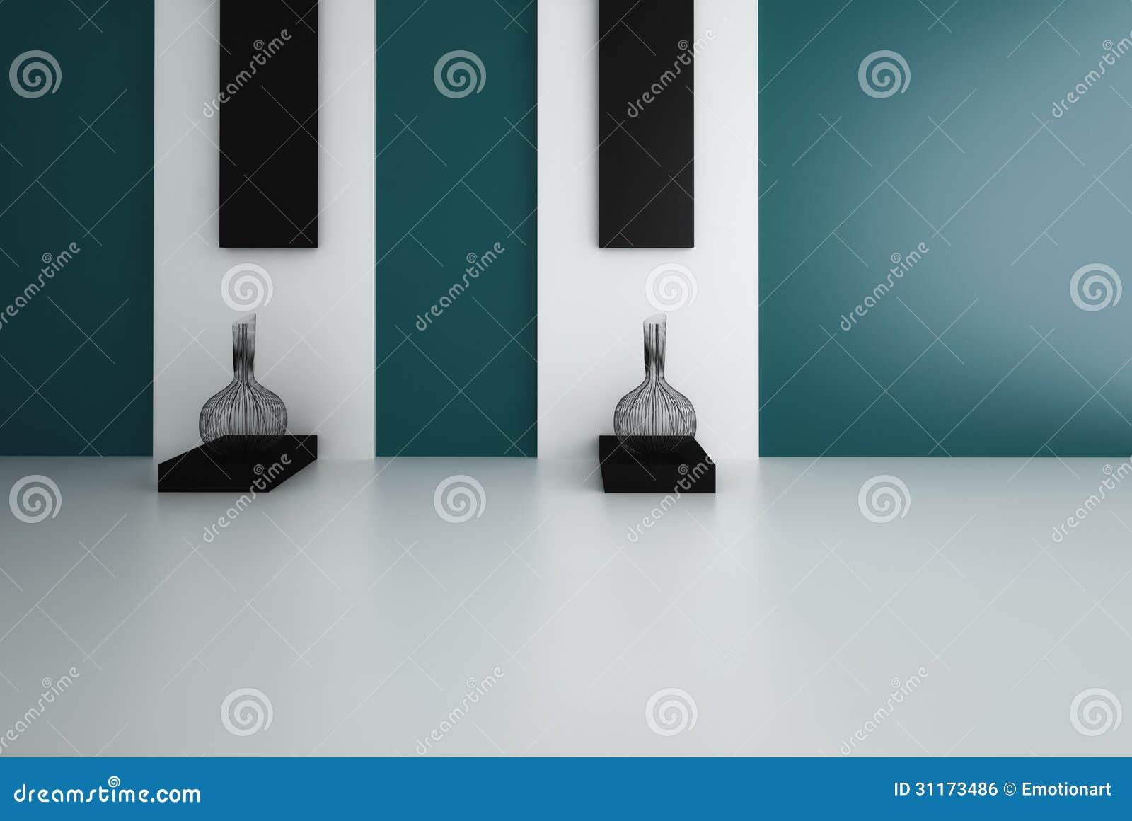 Interior moderno con dos floreros modernos imagen de - Floreros modernos ...
