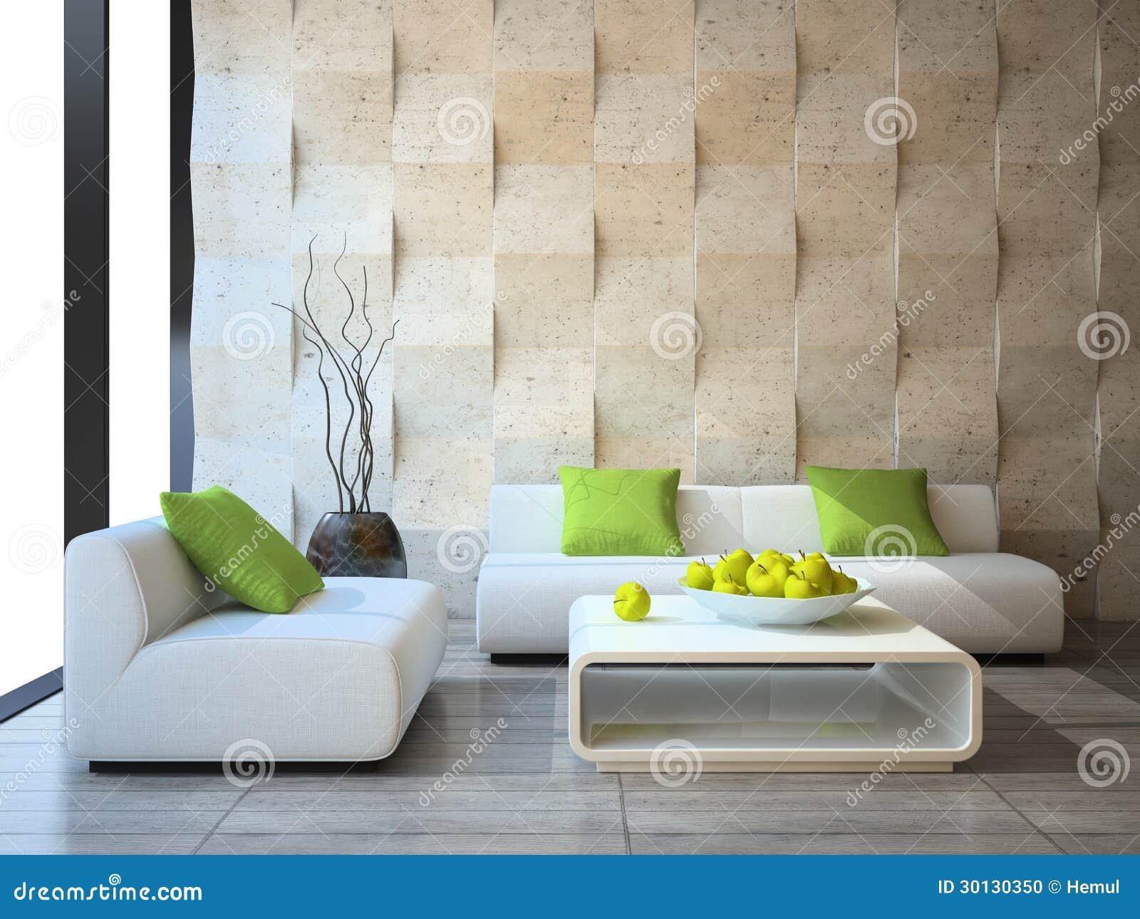 Interior con los paneles de muro de cemento stock de for Decoracion muros interiores
