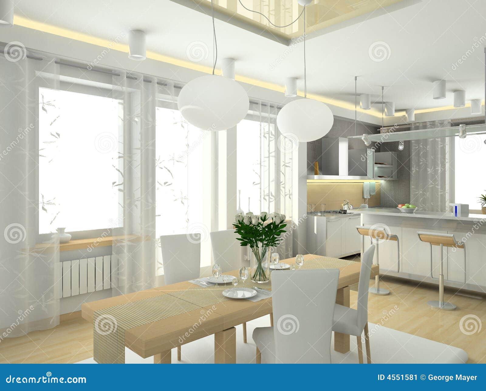 Interior moderno na casa grande. Projeto da cozinha. 3D rendem. #82A229 1300 1065