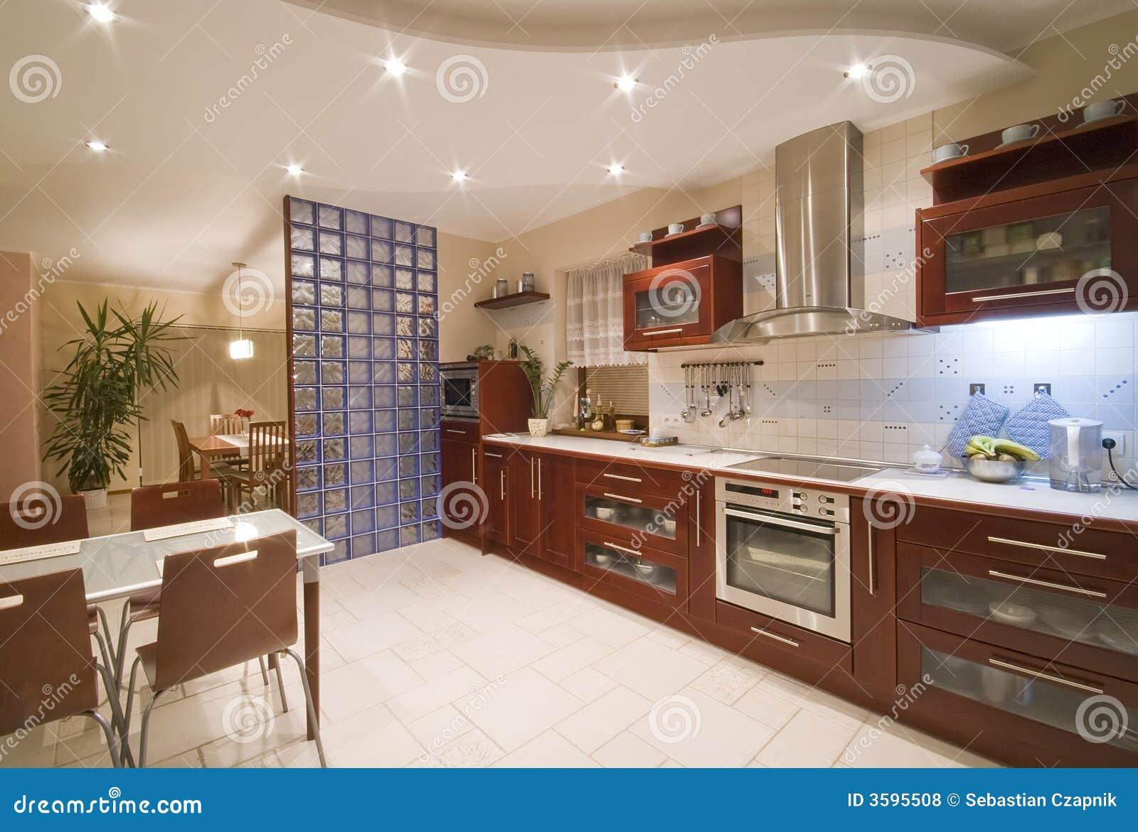 Interior Moderno Da Cozinha Fotos de Stock Royalty Free Imagem  #673C28 1300 968