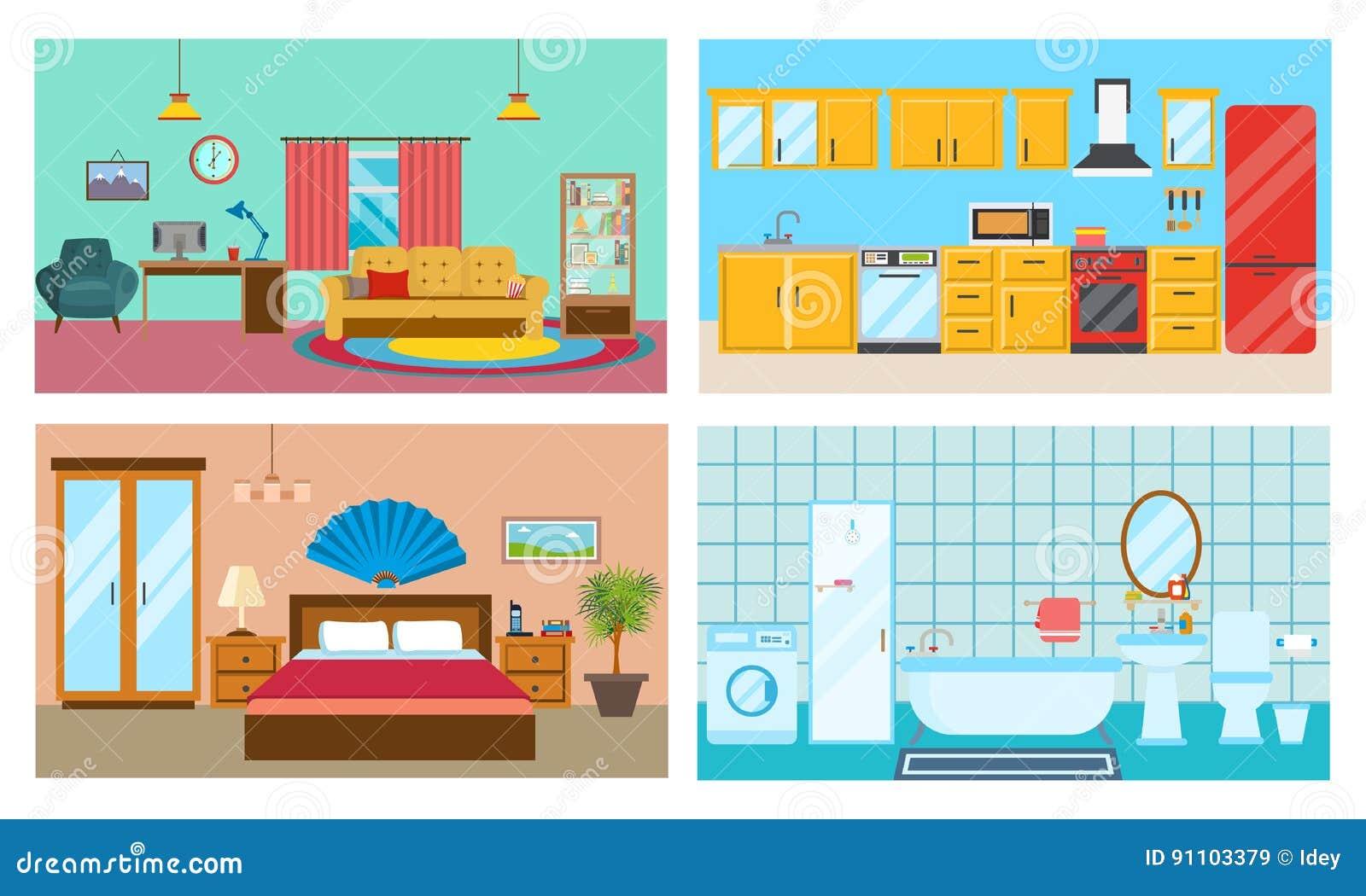 Interior moderno de cuartos sala de estar cocina for Lenceria de dormitorio 3