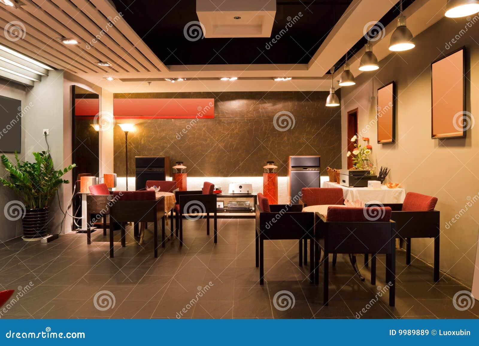 Interior moderno de la barra o del restaurante imagen de for Muebles para restaurantes modernos