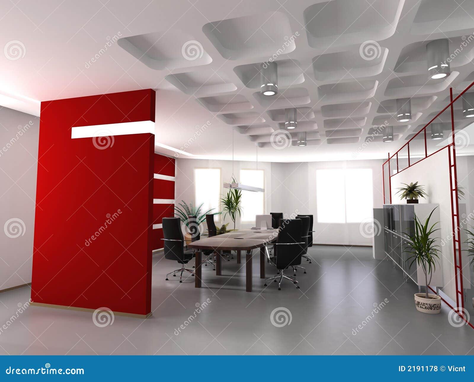 Interior moderno de la oficina for Diseno de interiores oficina pequena