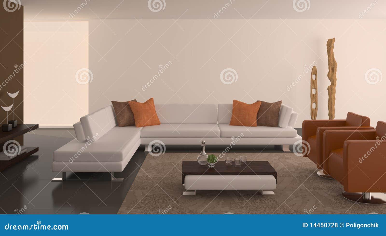 Interior moderno de la sala de estar.