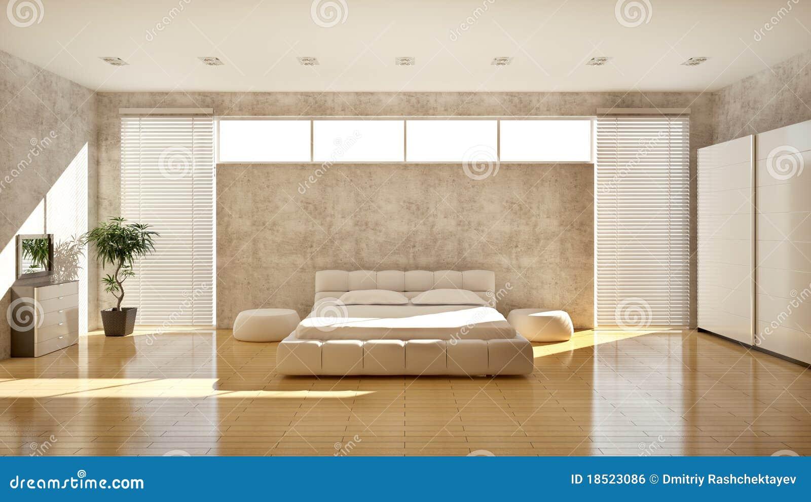 Interior moderno de un dormitorio