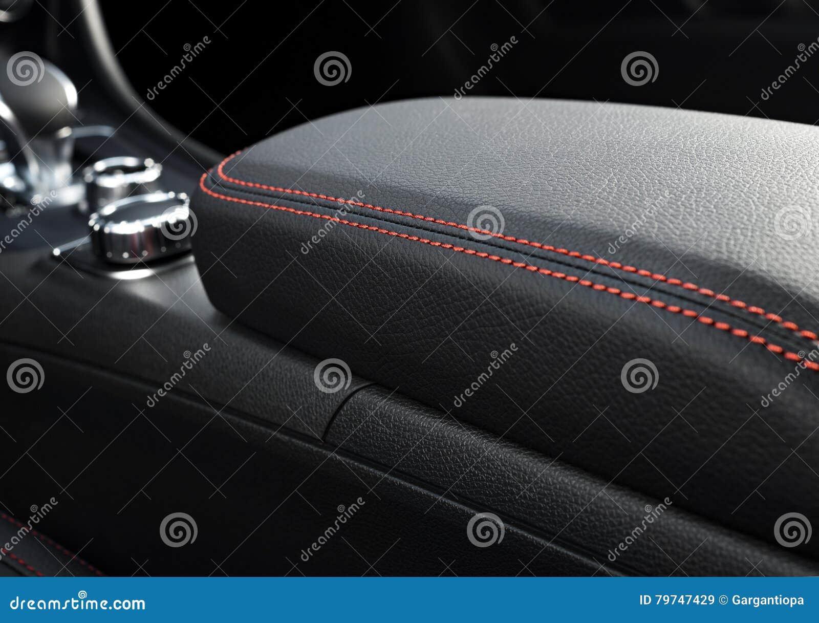 Interior moderno del coche deportivo