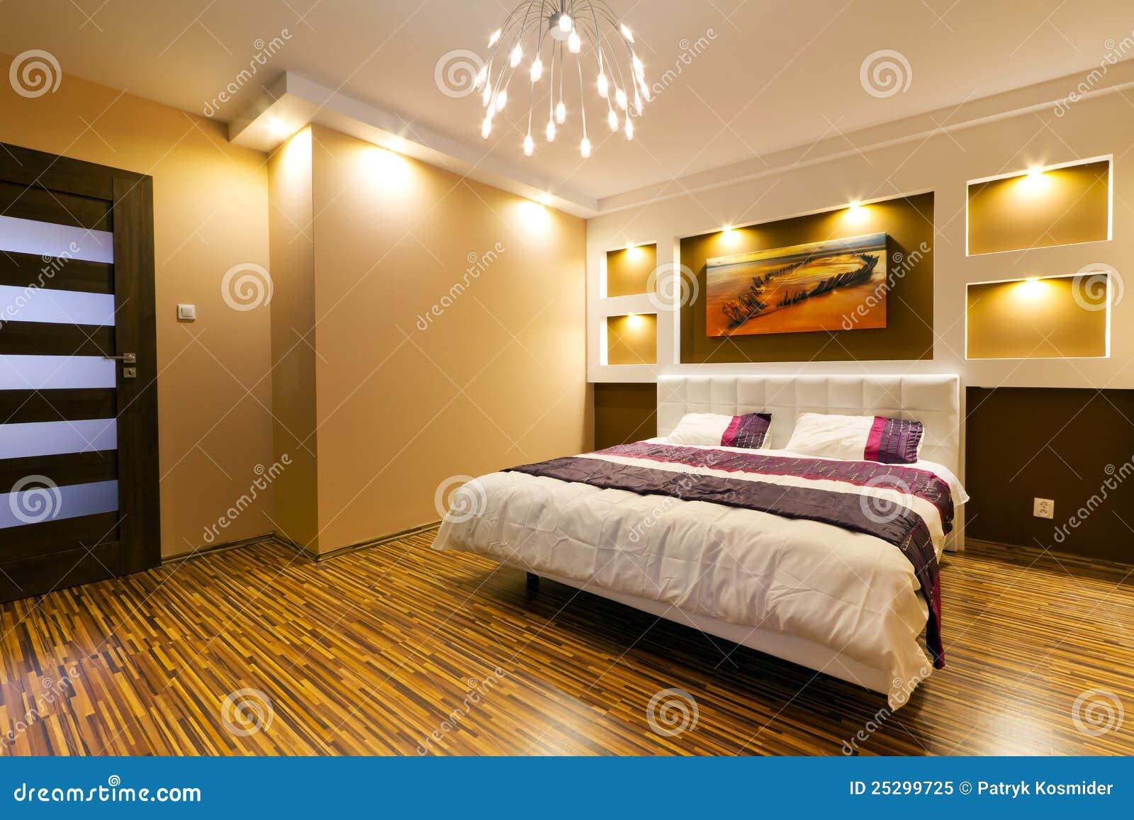 interior moderno del dormitorio principal foto de archivo