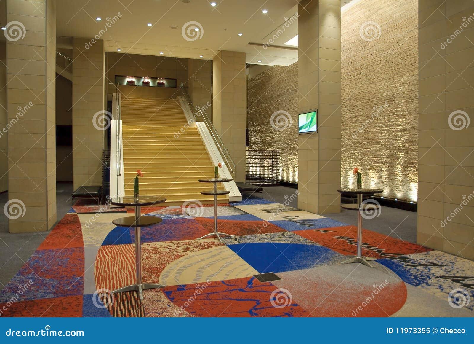 Interior moderno do hotel