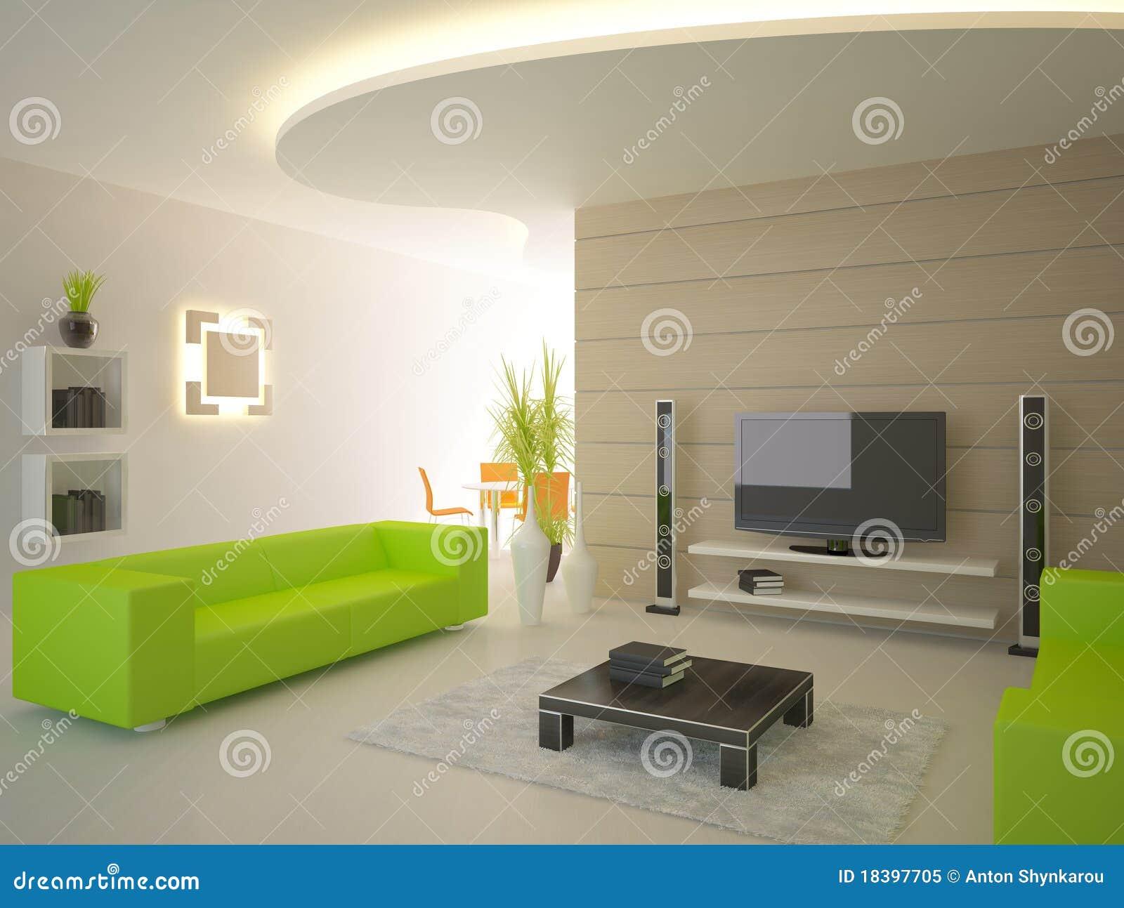 Interior moderno verde