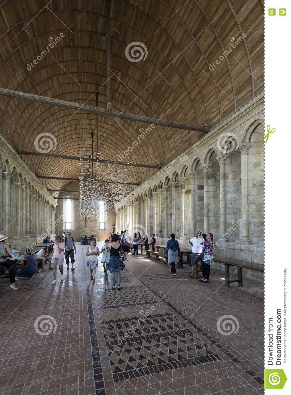 Interior Of Mont Saint Michel Abbey France Editorial Photo Image