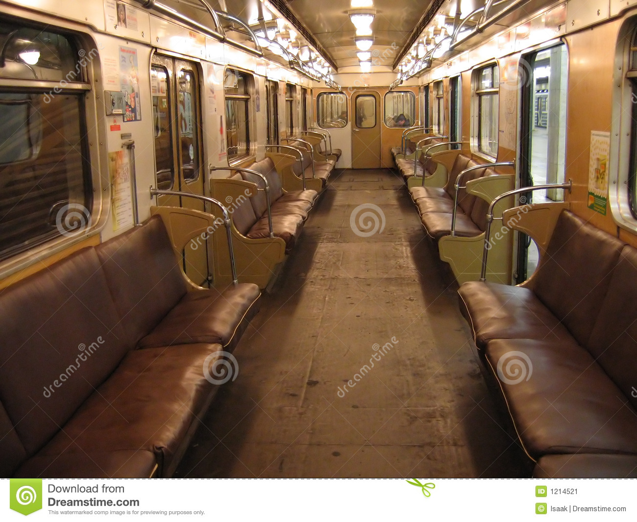 interior of moscow subway car stock image image 1214521. Black Bedroom Furniture Sets. Home Design Ideas