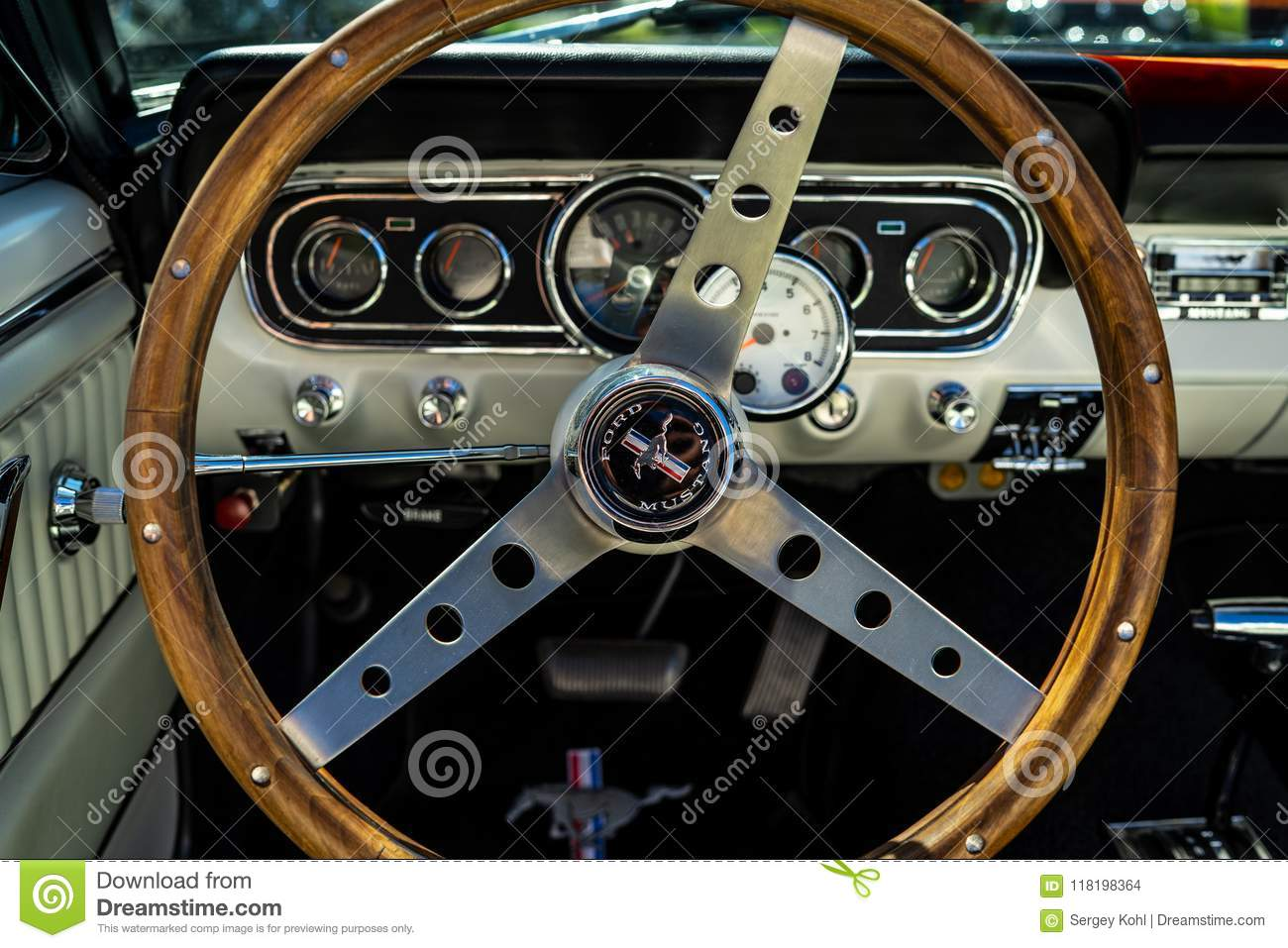 Interior Of The Muscle Car Ford Mustang First Generation Editorial