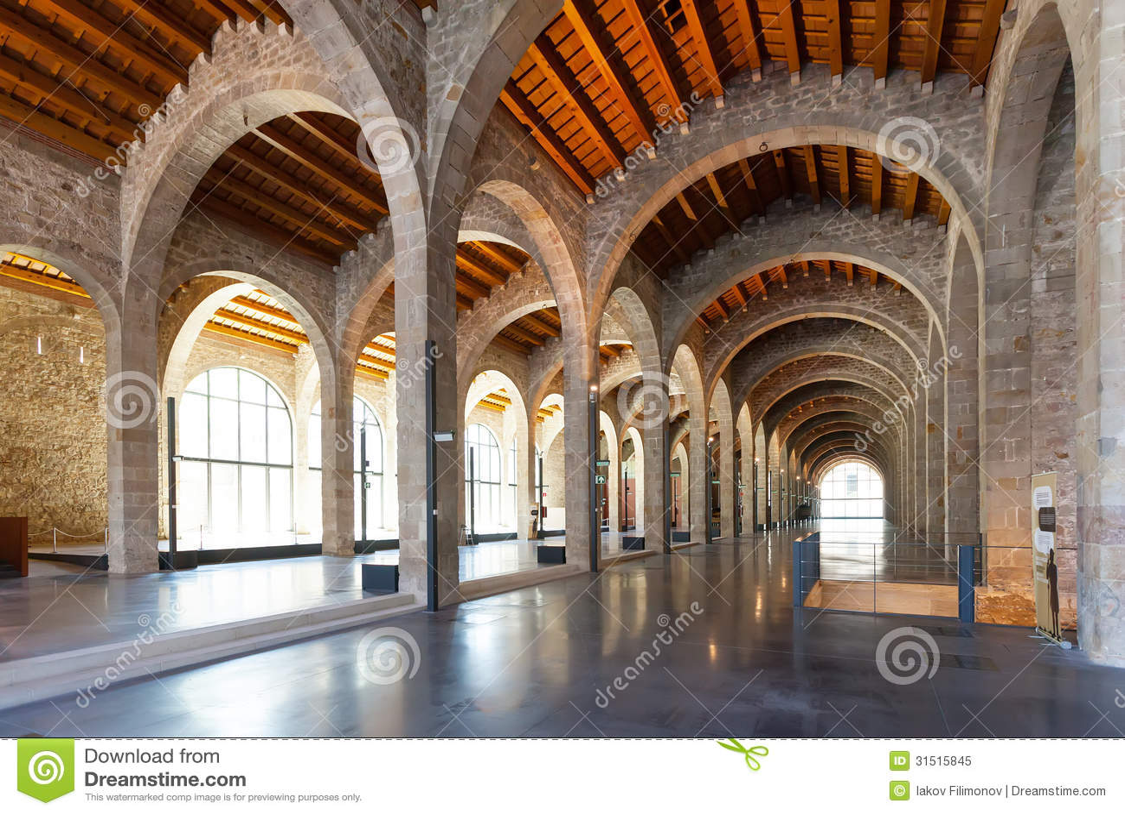 Interior Of Museu Maritim De Barcelona Editorial Image - Image: 31515845