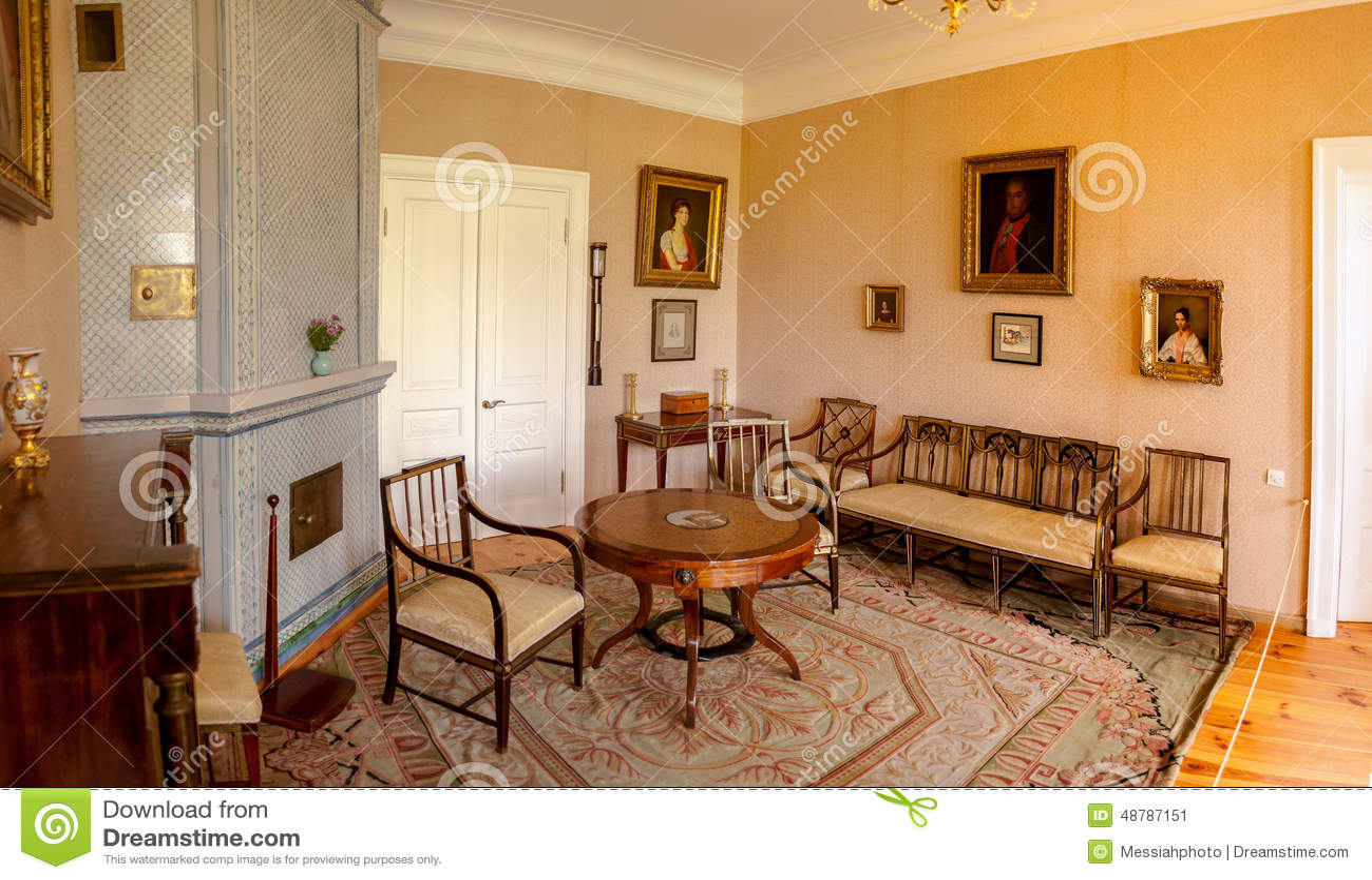 Interior of Museum-Estate Mikhailovskoye