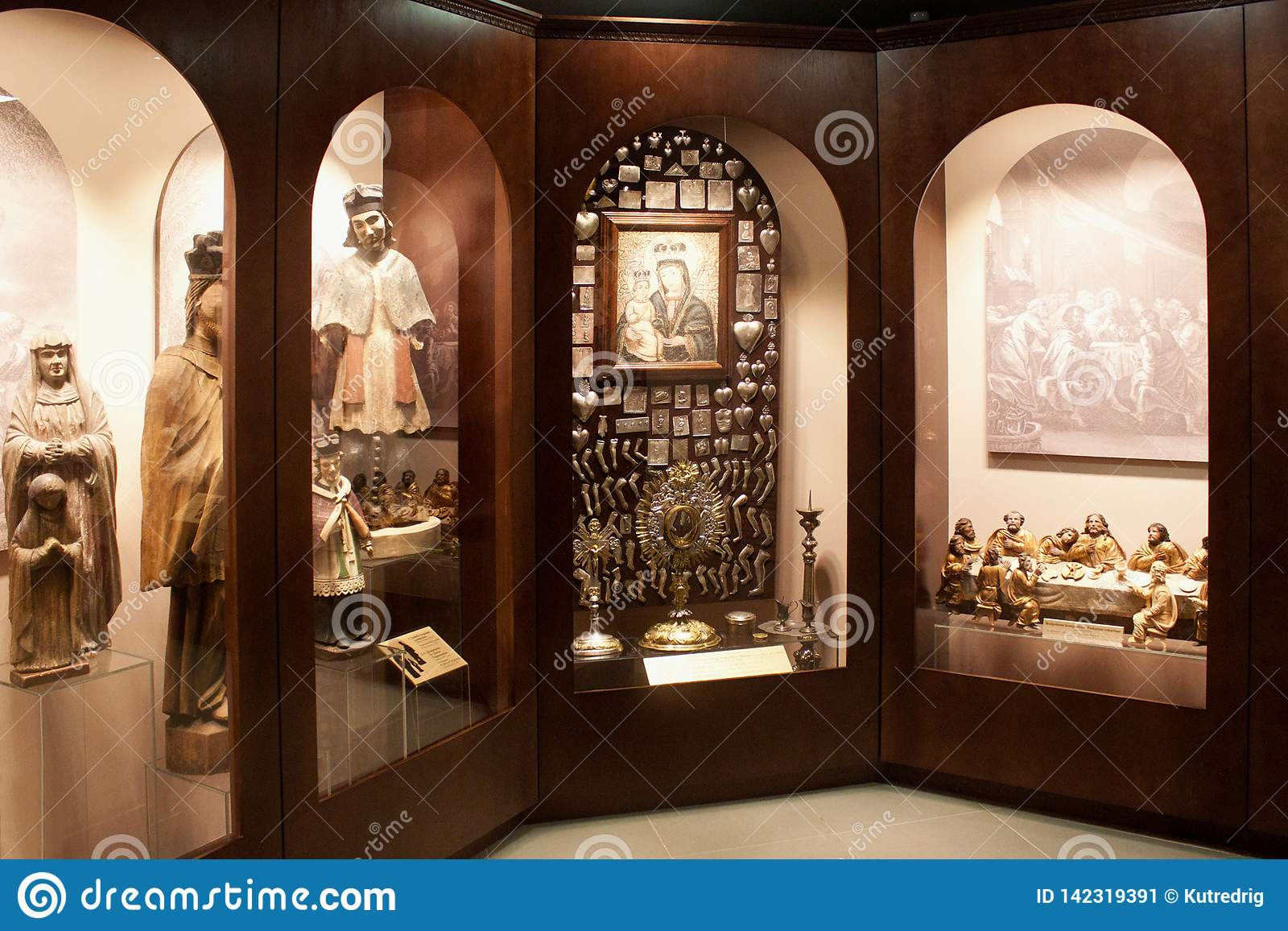 TRAKAI, LITHUANIA - JANUARY 02, 2013: Interior of the Museum of Sacred Art
