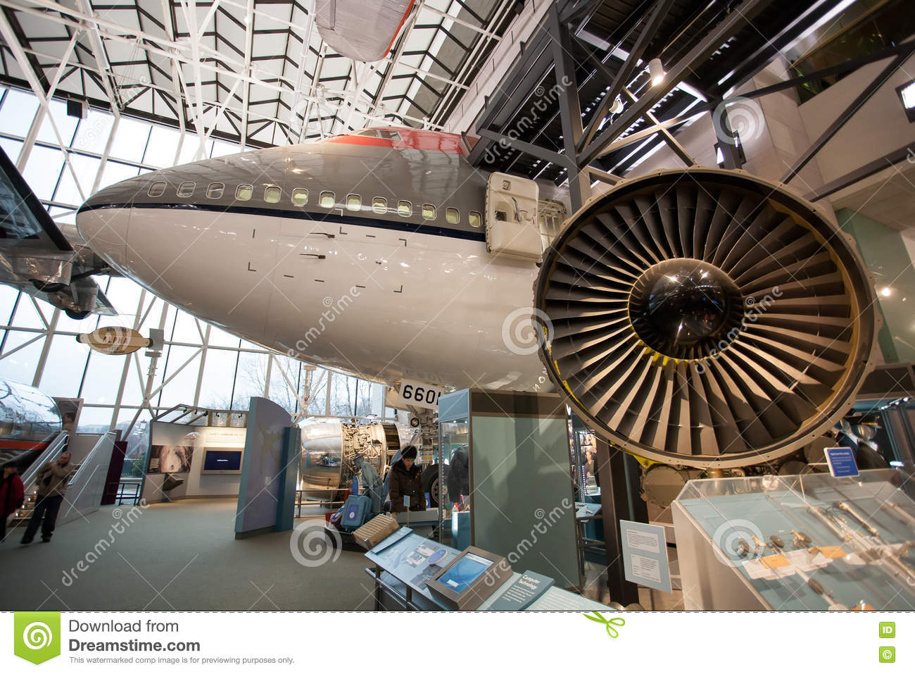 Interior Of The National Air And Space Museum Located In