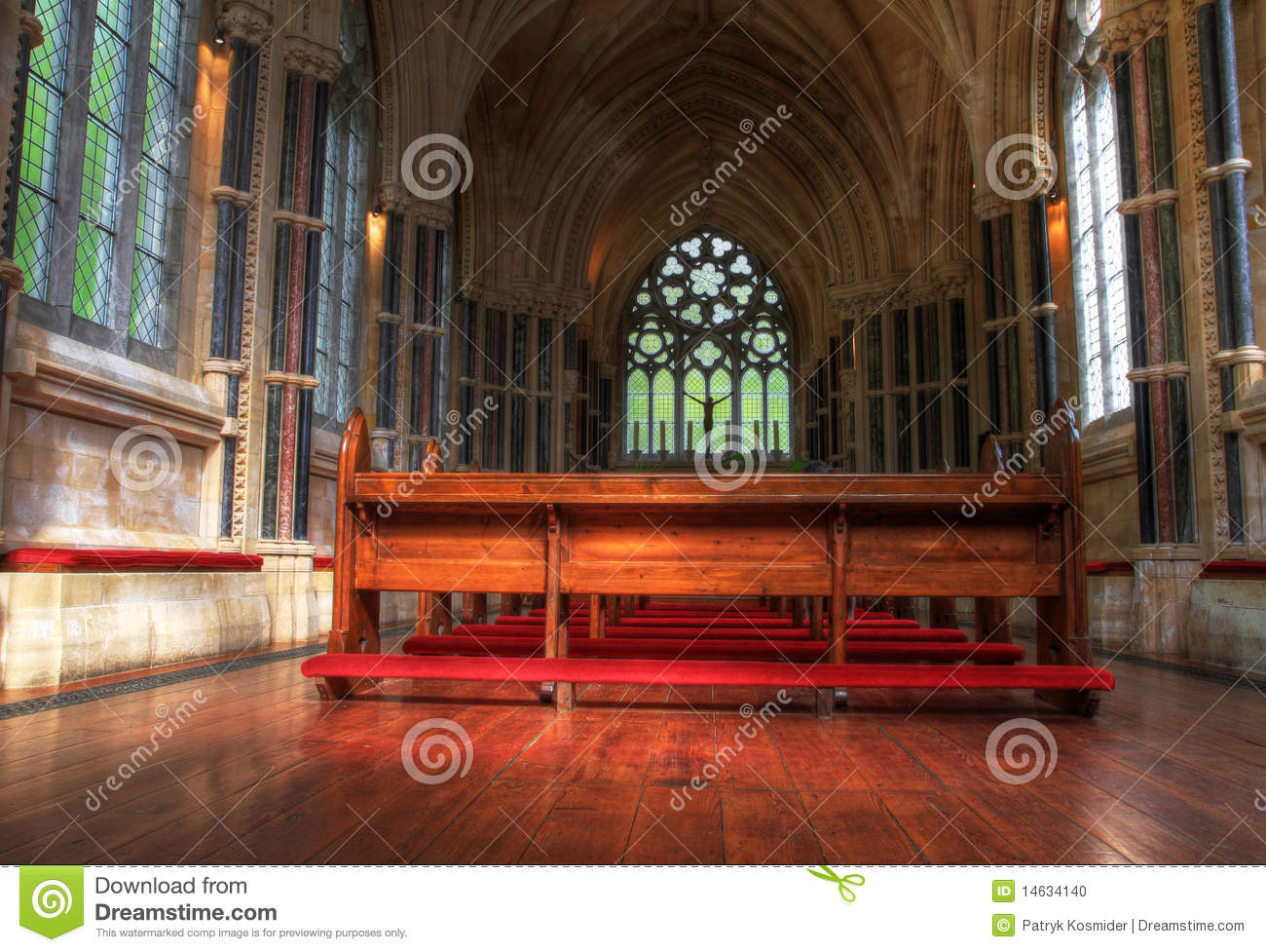 Download Interior Of Neo Gothic Church Editorial Image