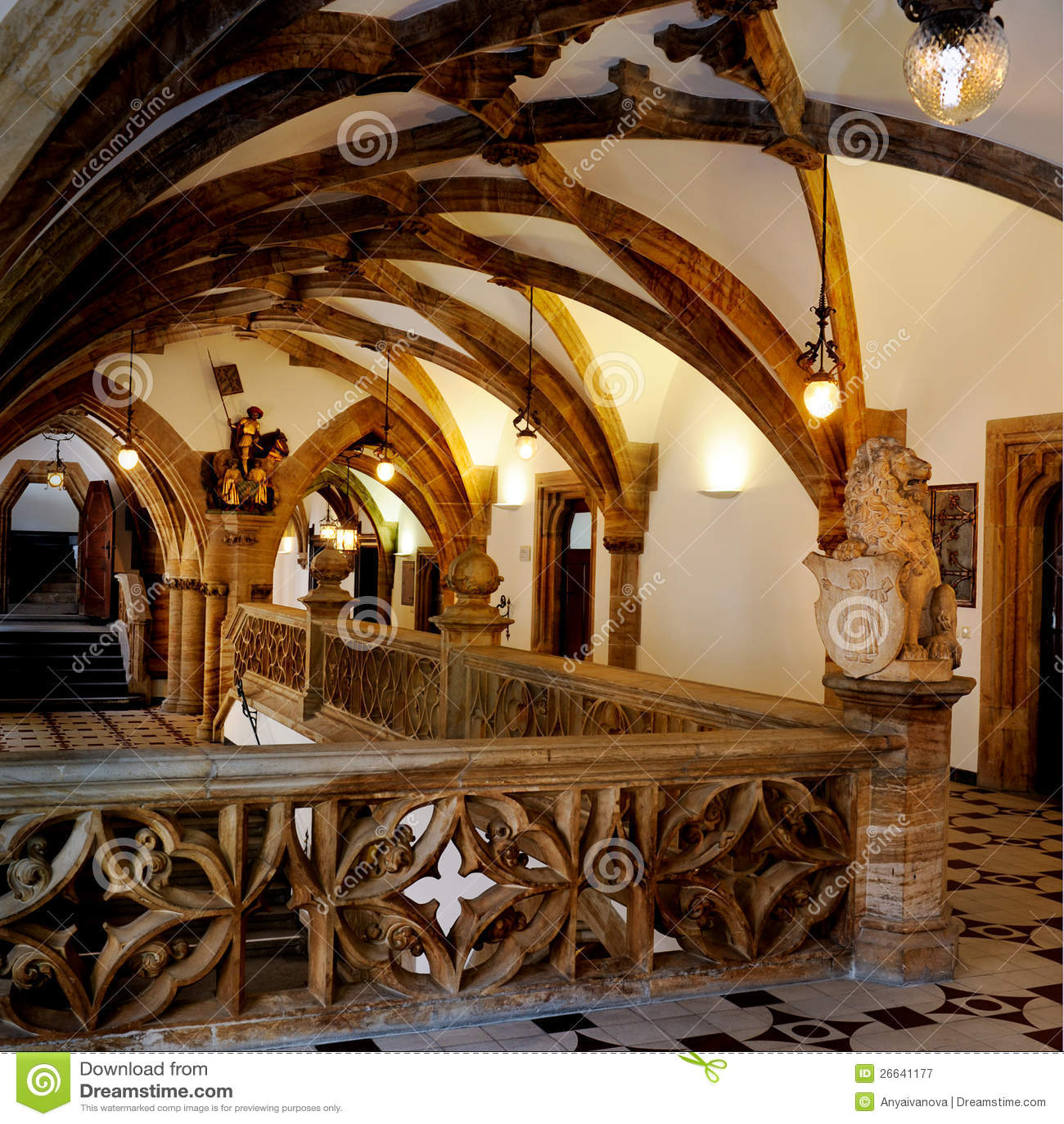 Interior of neues rathaus in munchen royalty free stock for Interior design munich
