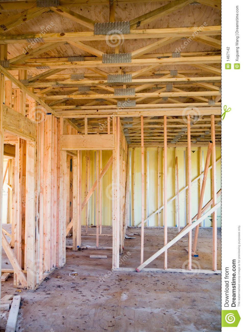 Interior Of New Apartment Building Under Construction ...