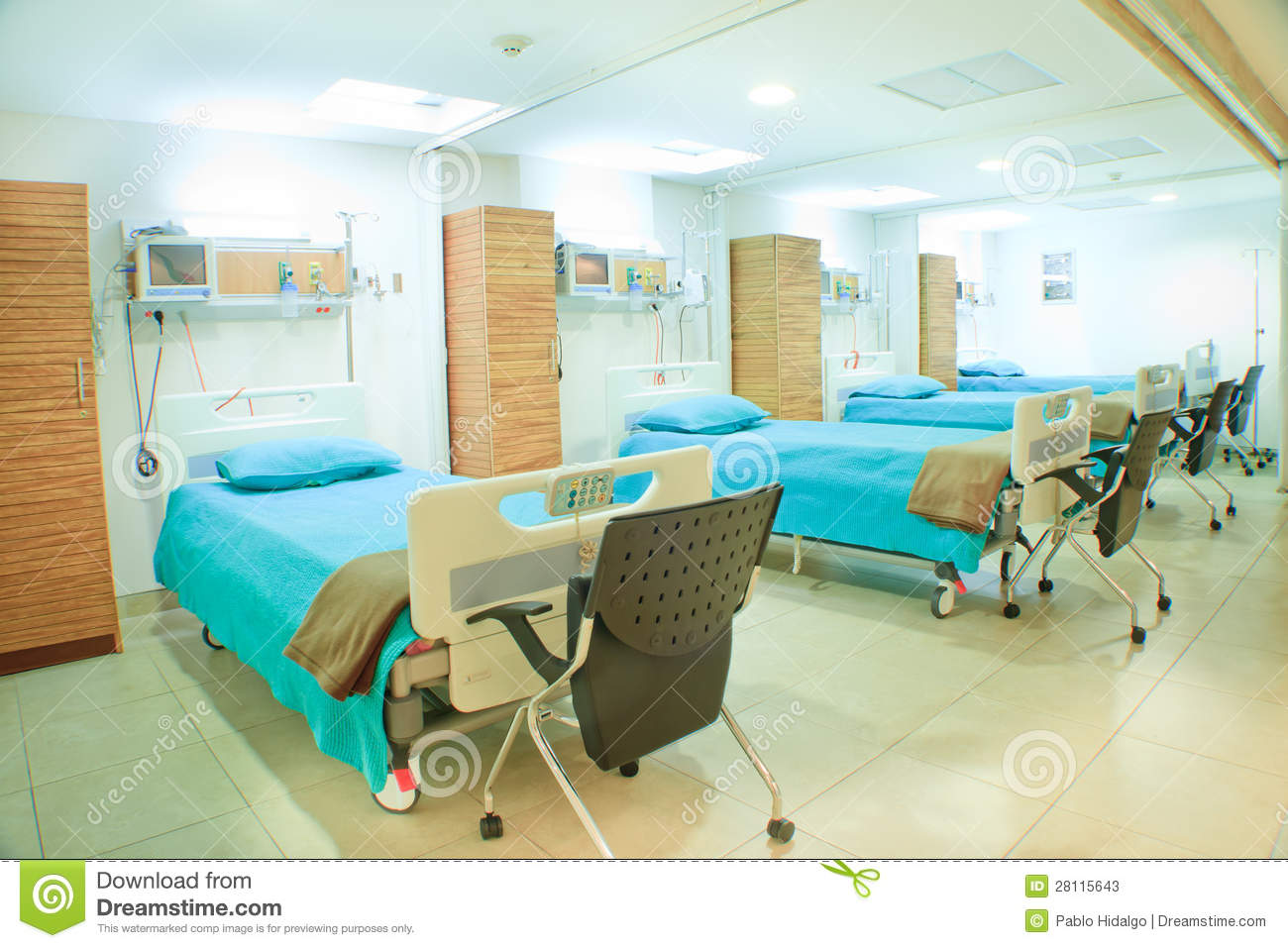 Modern Hospital Room stock image. Image of operating - 44958745