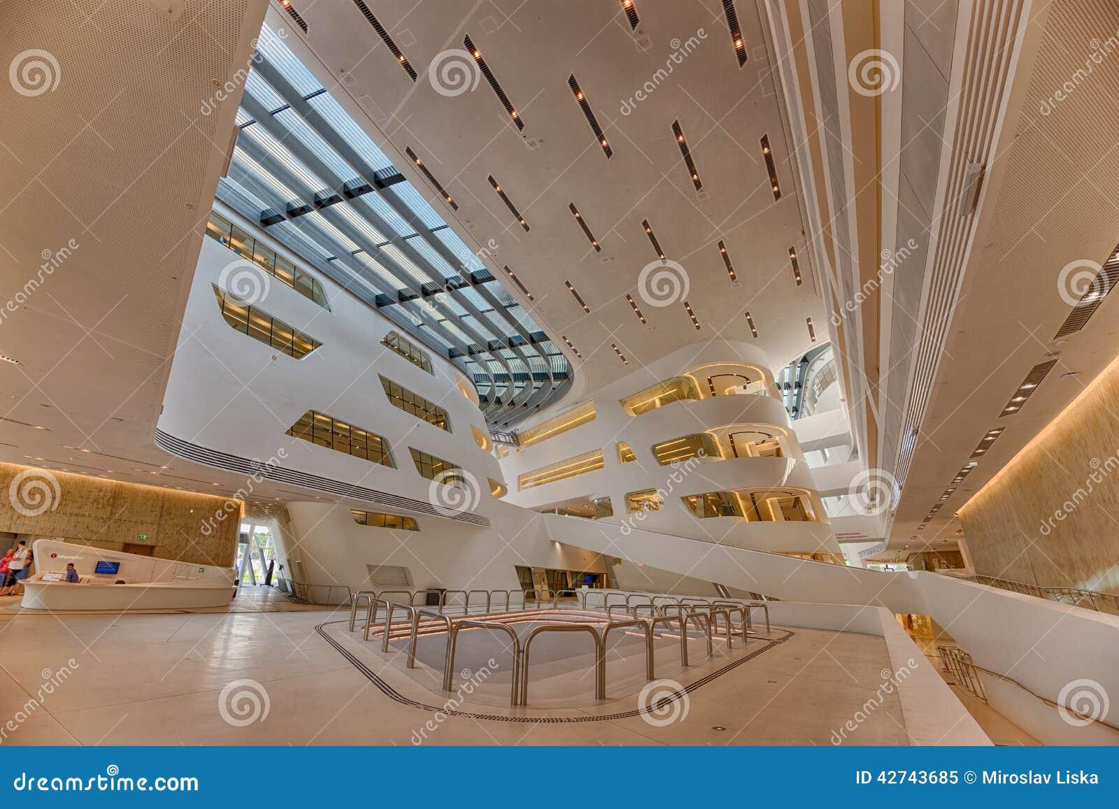 Interior Of The New And Futuristic Vienna University Economic