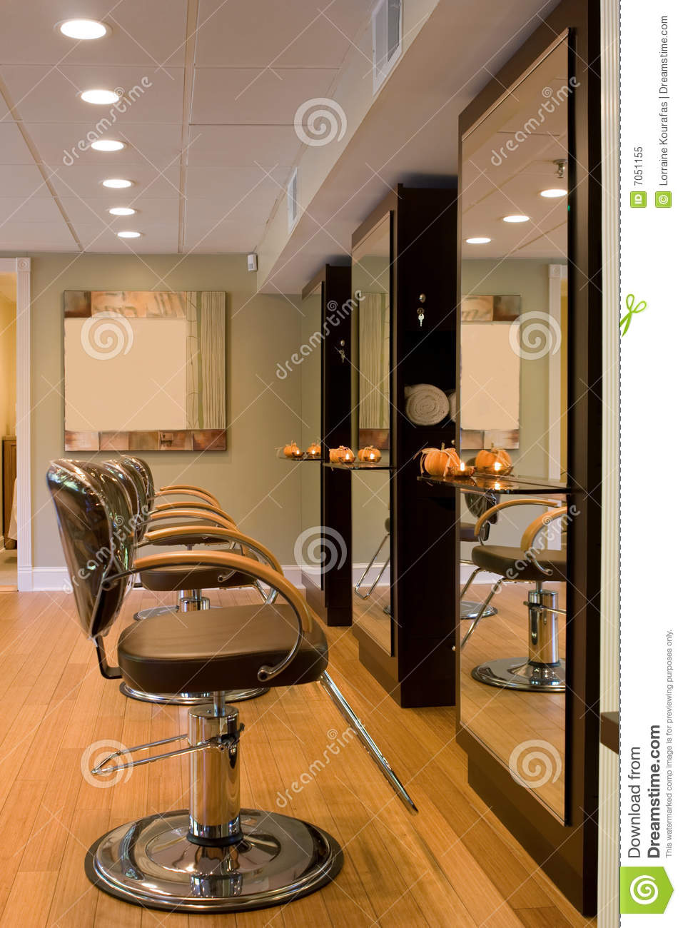Interior new hair salon royalty free stock photo image for A new image salon