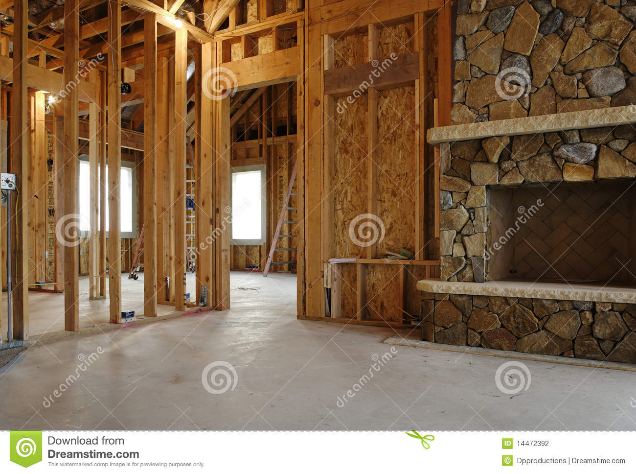 Interior Of New Home Construction Stock Photo Image 14472392