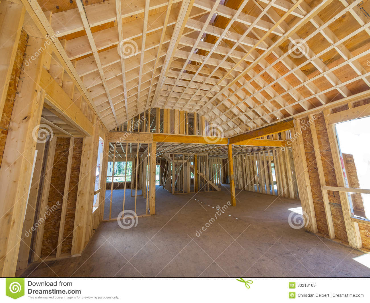Interior New House Framing Stock Photos Image 33218103