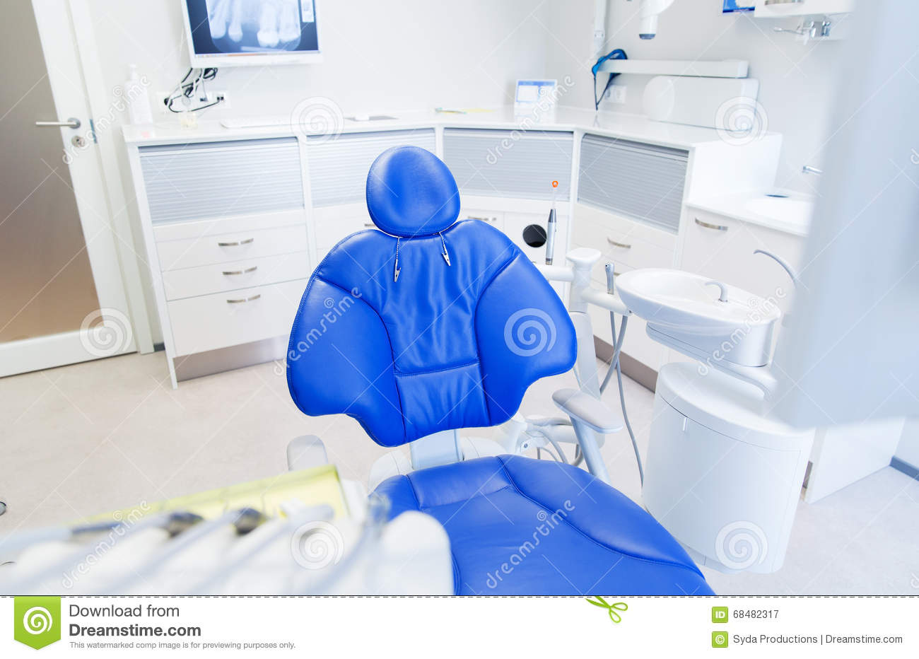 Interior Of New Modern Dental Clinic Office Stock Image Image Of Blue Nobody 68482317