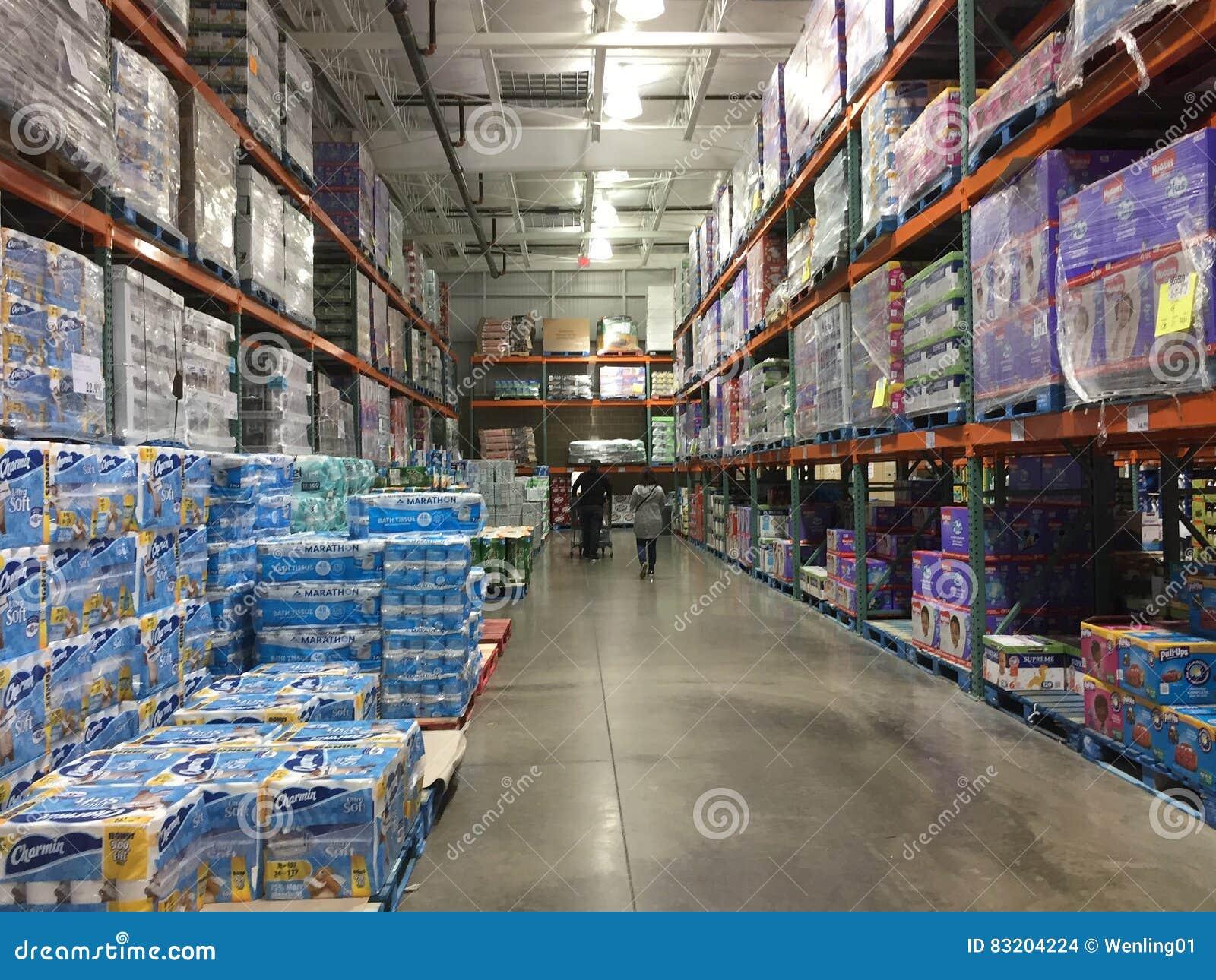 Interior Of Nice Store Costco Editorial Stock Image - Image