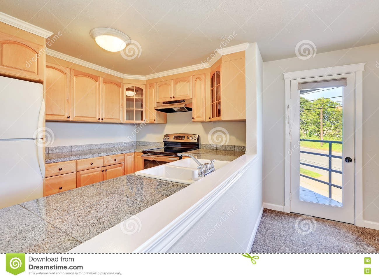 Cabinet D Architecte Nice interior of nice u-shaped kitchen room stock image - image