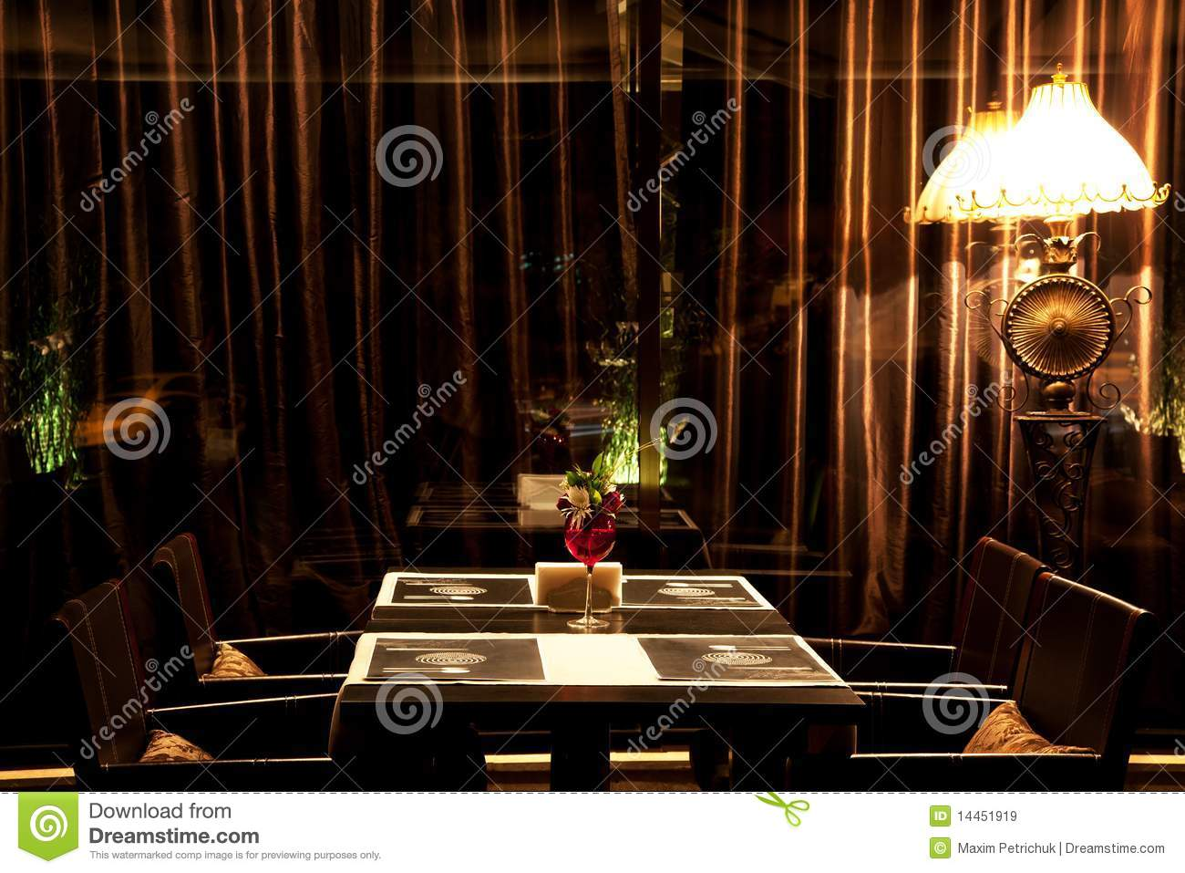 Interior night restaurant royalty free stock images