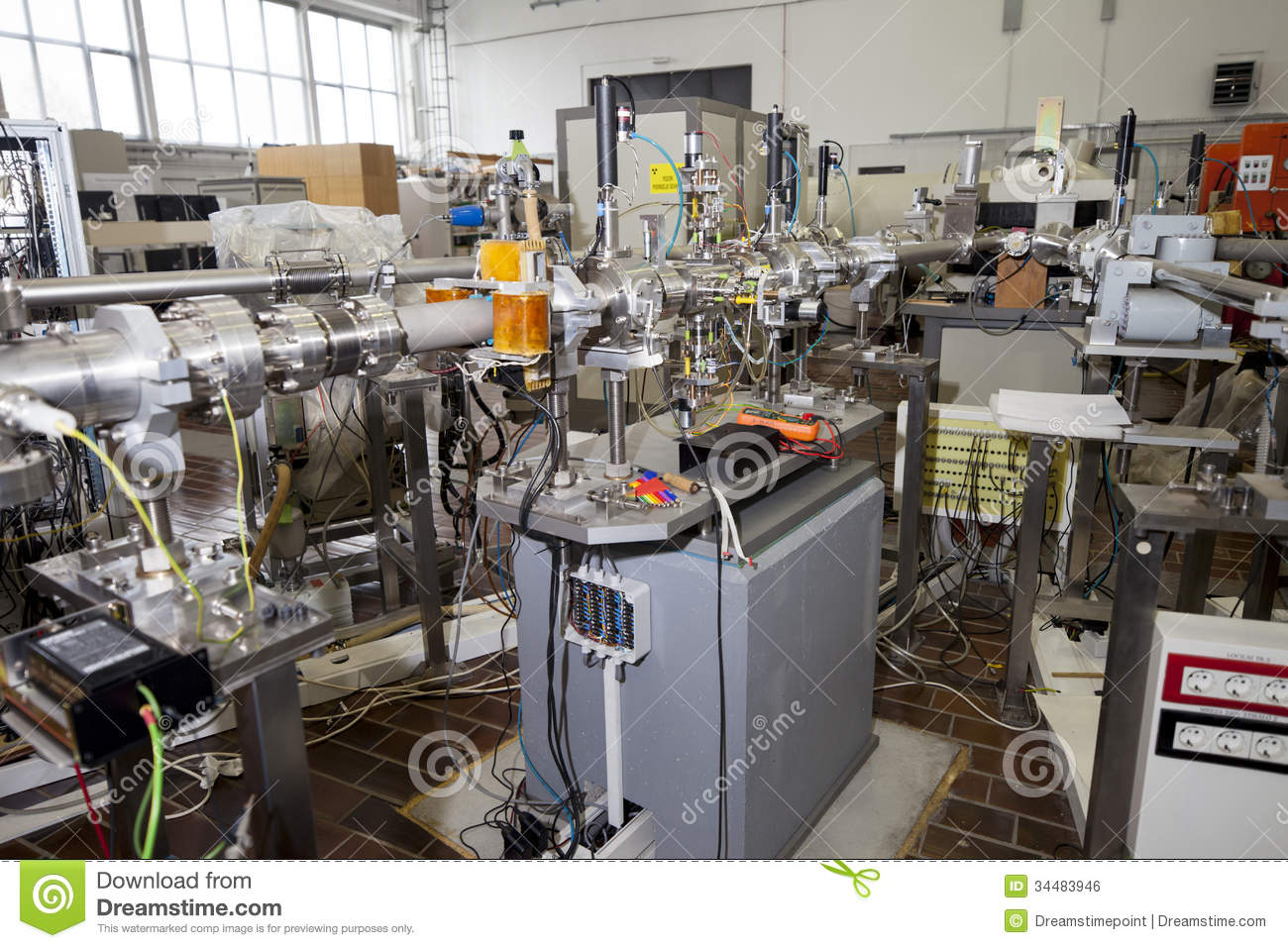 interior of nuclear laboratoryion accelerator stock photo
