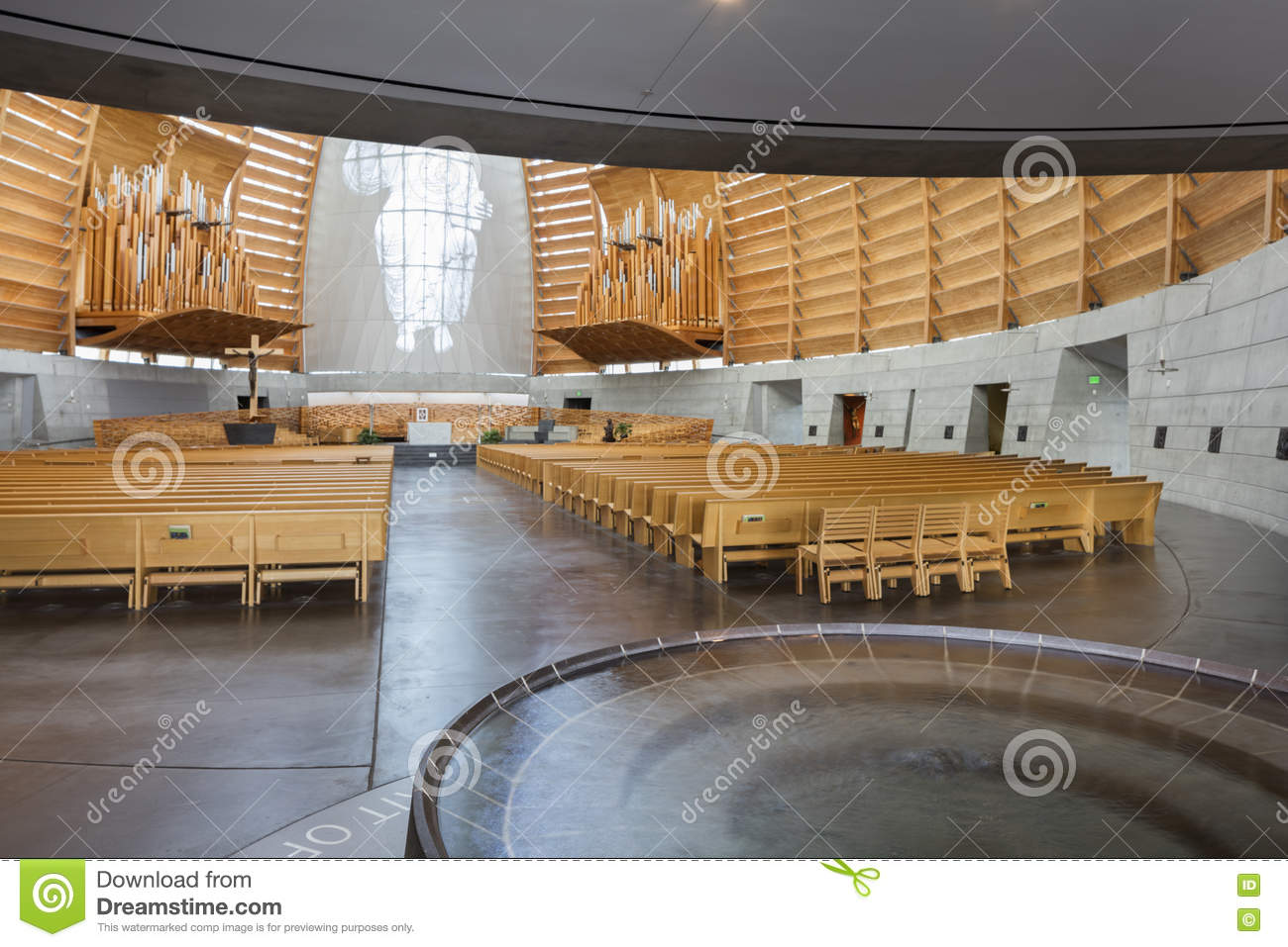 Interior Of Oakland Cathedral Of Christ The Light Editorial Image ...