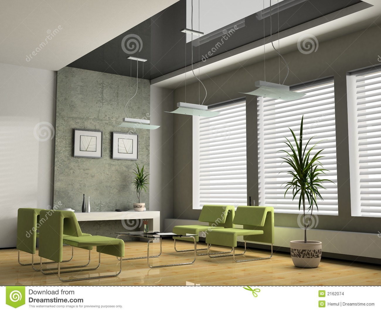 Interior Office 3d Stock Illustration Image Of Bottle