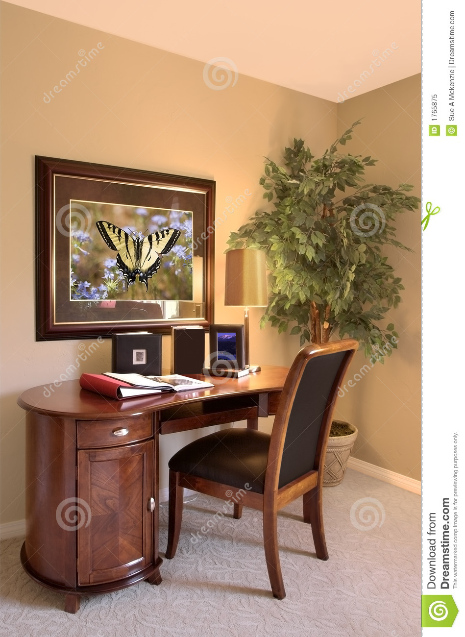 Interior Office Desk and Chair