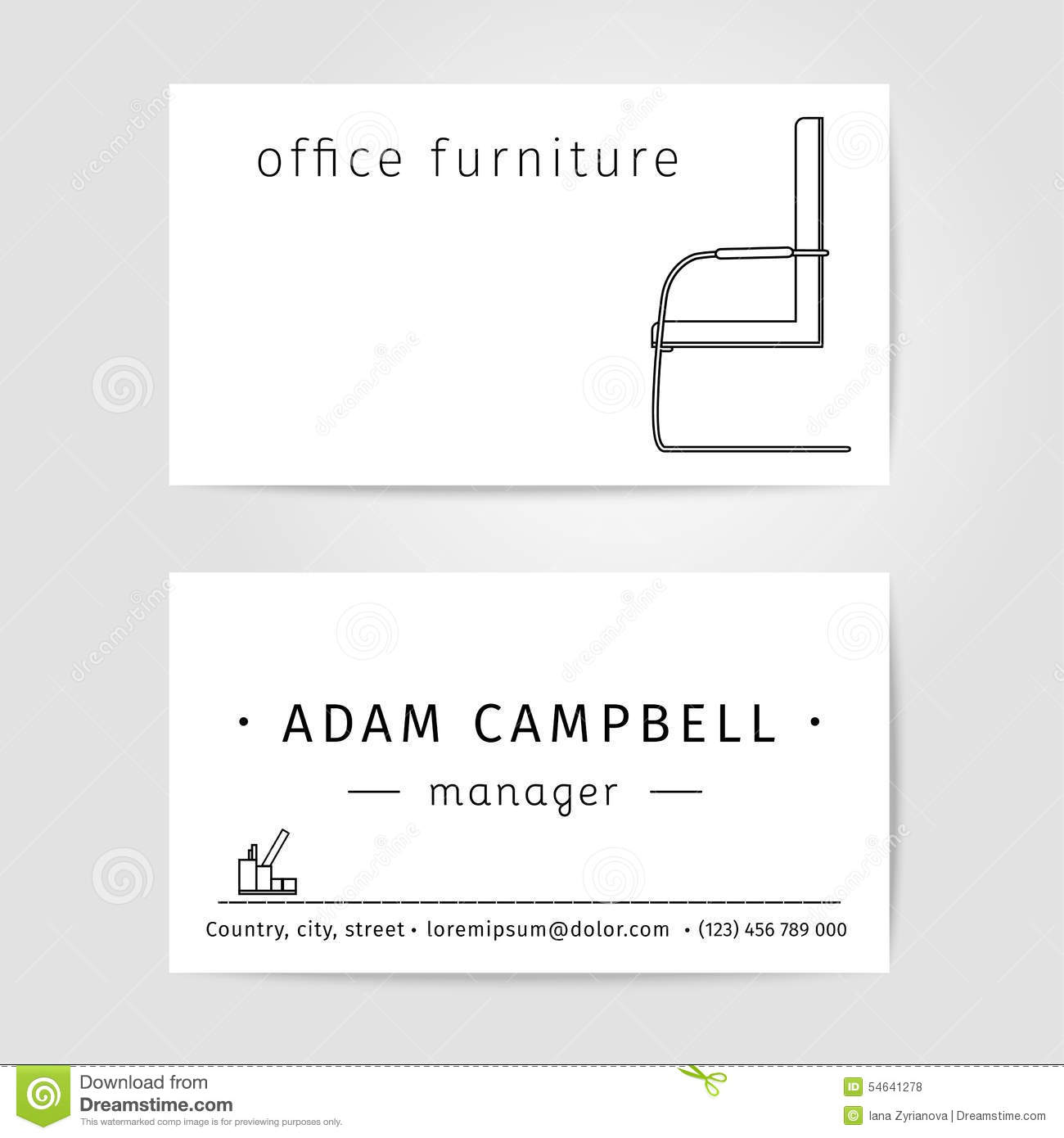 interior and office furniture designer or manager