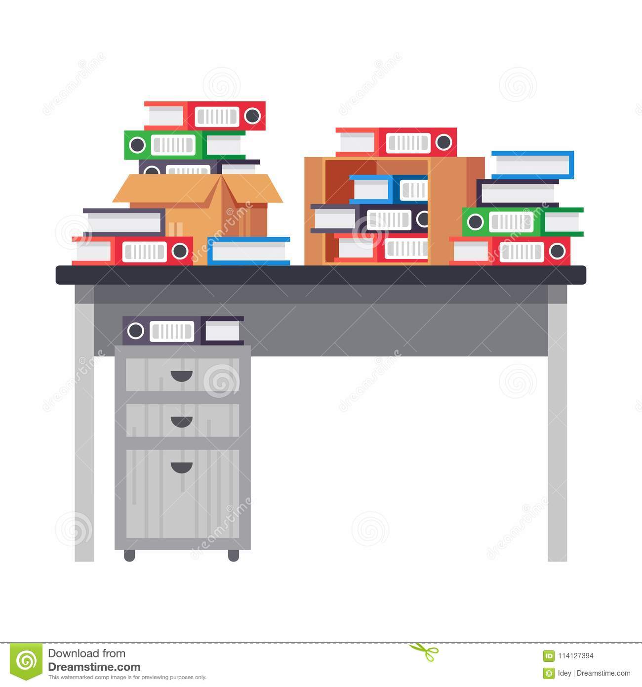 desk office file document paper. Interior Office Room, Workplace. Table, Workplace With Pile Of Paper Documents, File Folders, Business Working. Paper, Scaning Desk Document G