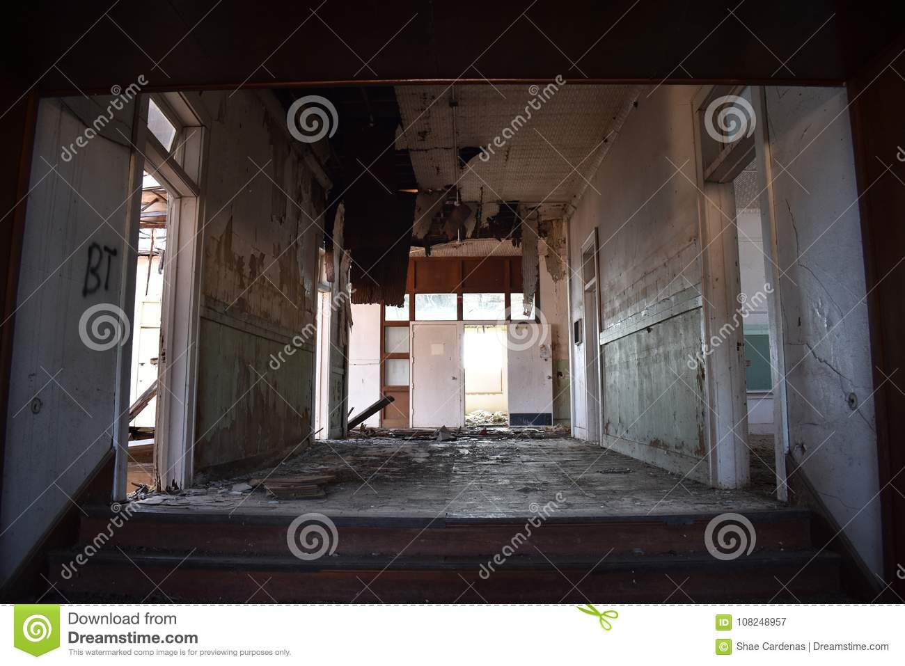 Interior of an old abandoned school