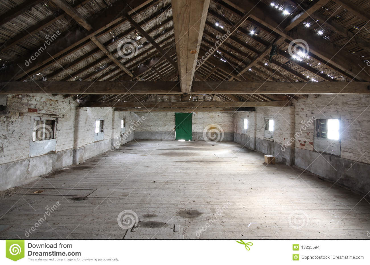 Interior Of Old Barn Stock Images Image 13235594