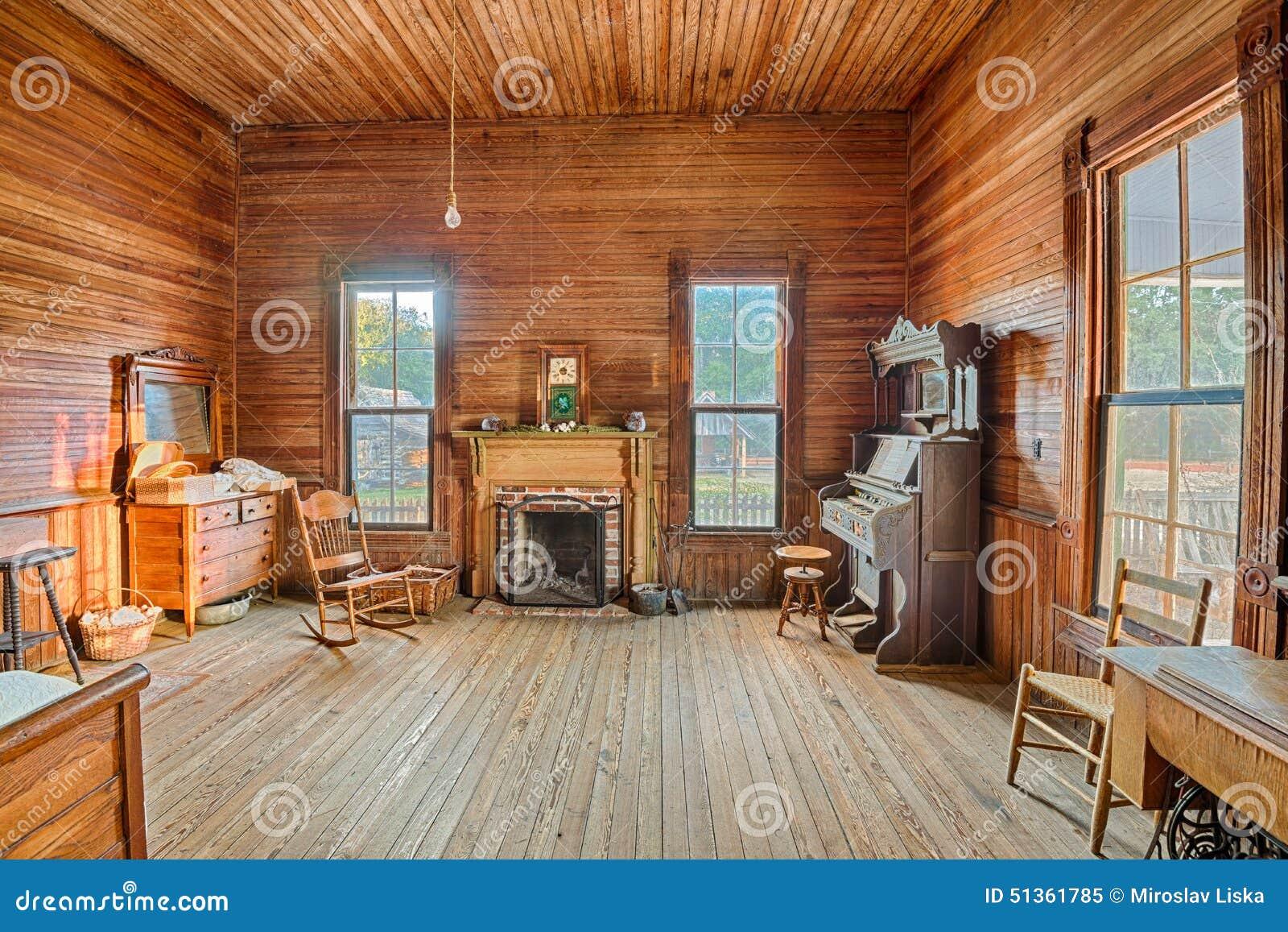 Interior Of An Old Farmhouse Alabama