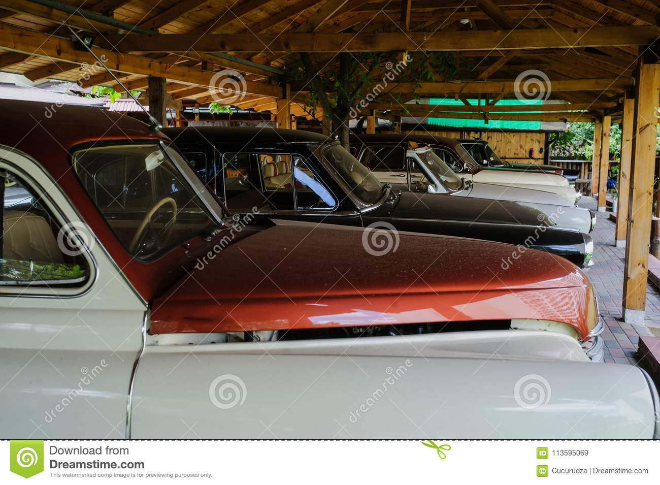 Interior Of Old Car From White Leather Stock Image - Image of ...