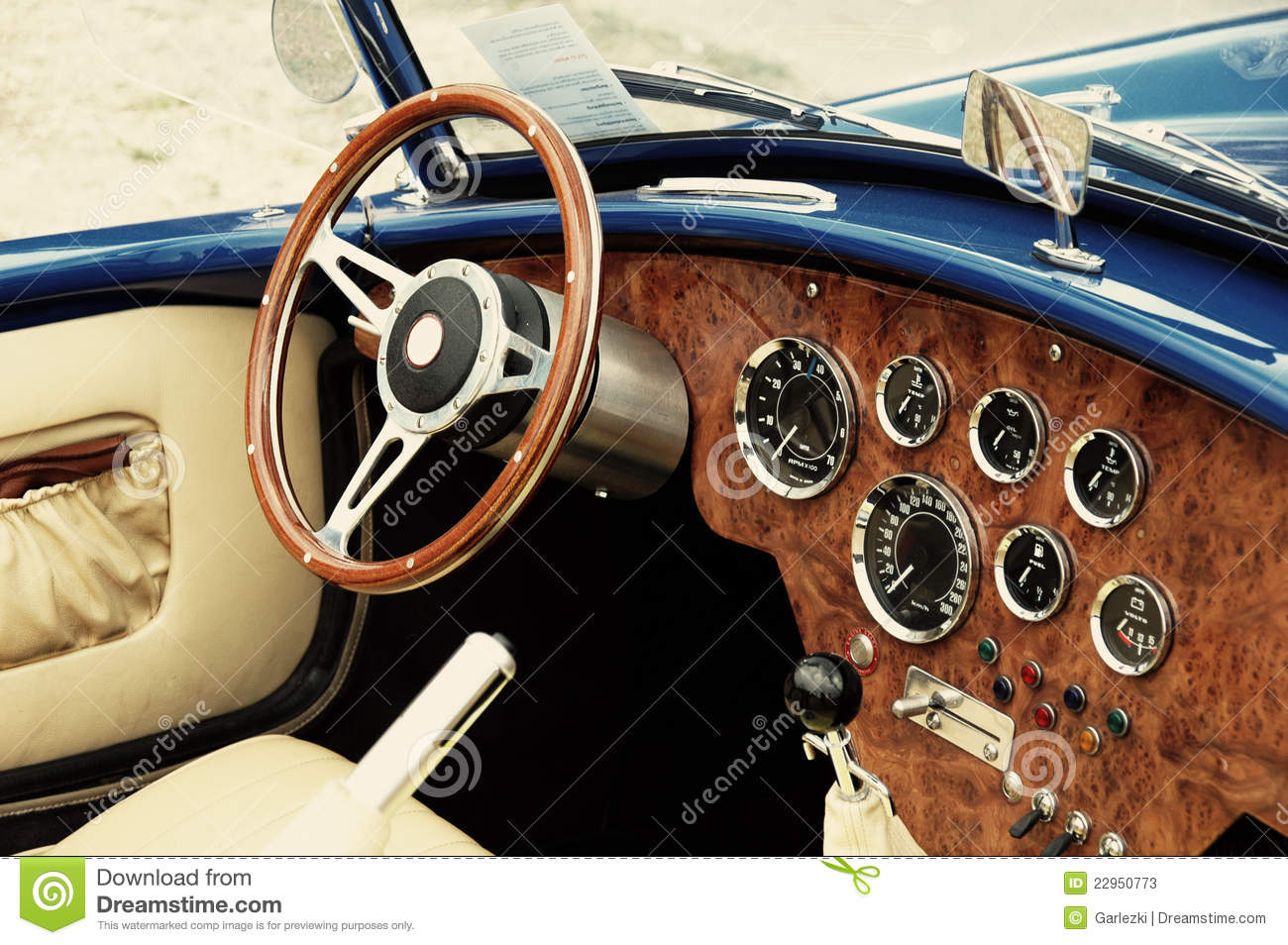 interior of old vintage car closeup stock photos image 22950773. Black Bedroom Furniture Sets. Home Design Ideas
