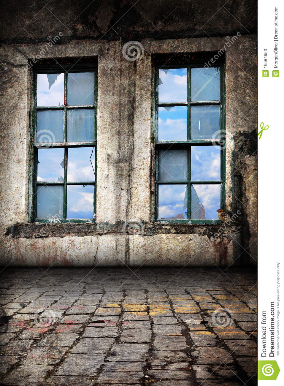 Old Interior Window Walls : Interior of old warehouse background stock photos image